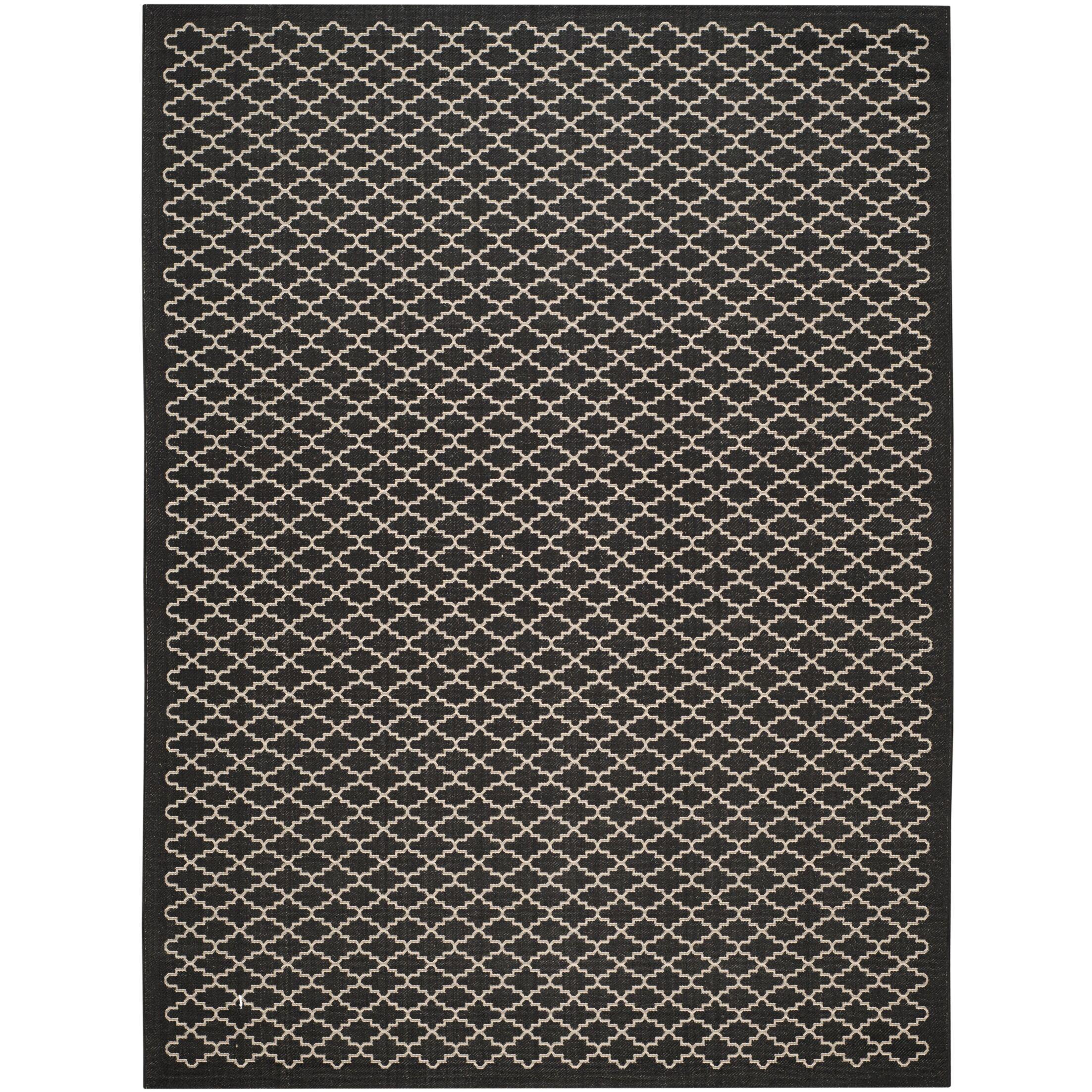 Bexton Black / Beige Outdoor Area Rug Rug Size: Rectangle 9' x 12'6