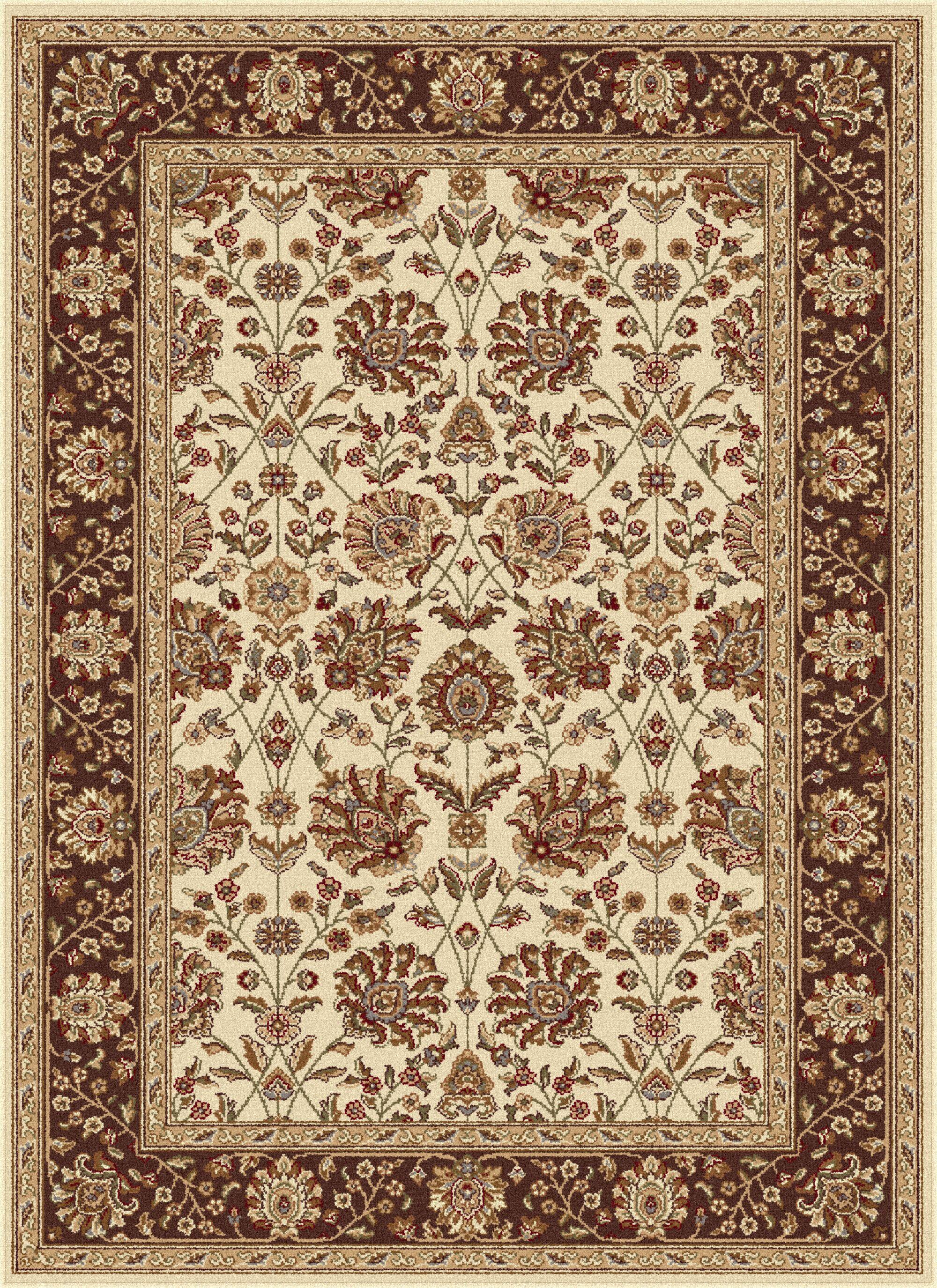 Larabee Beige Floral Area Rug Rug Size: 7'6'' x 9'10''