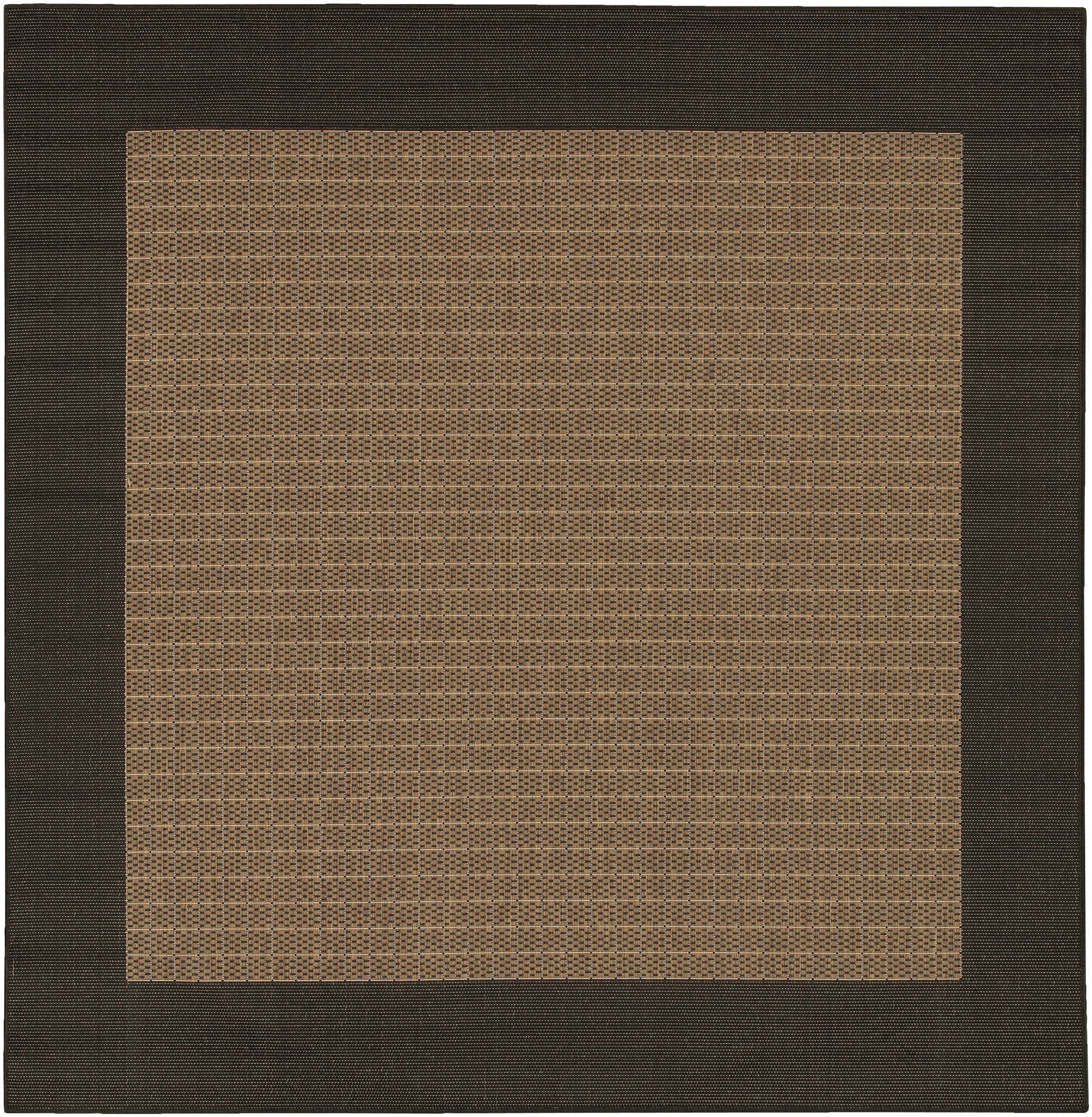 Halsey Checkered Field Cocoa/Black Indoor/Outdoor Area Rug Rug Size: Square 8'6