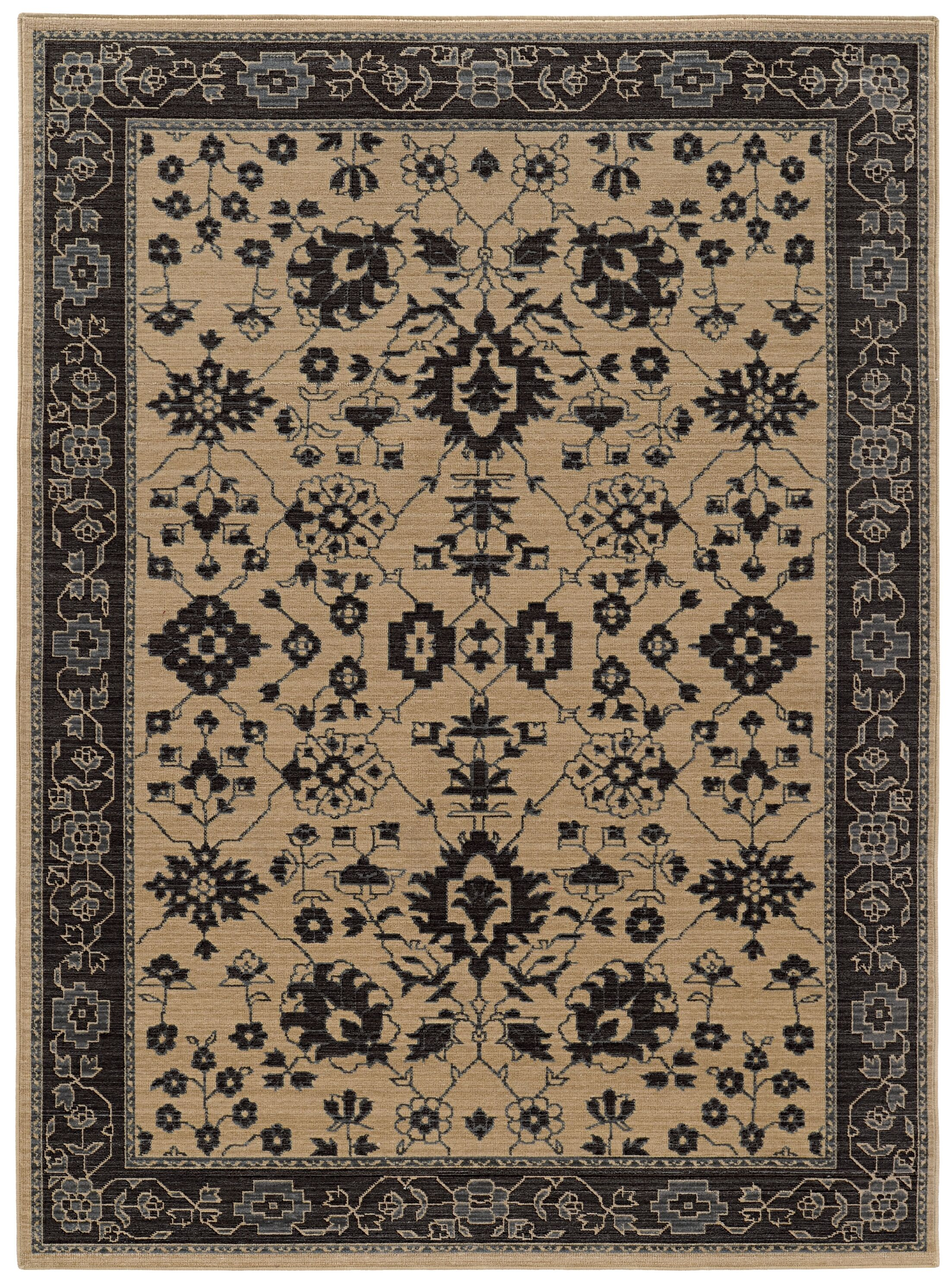 Douglassville Beige Area Rug Rug Size: Rectangle 5'2