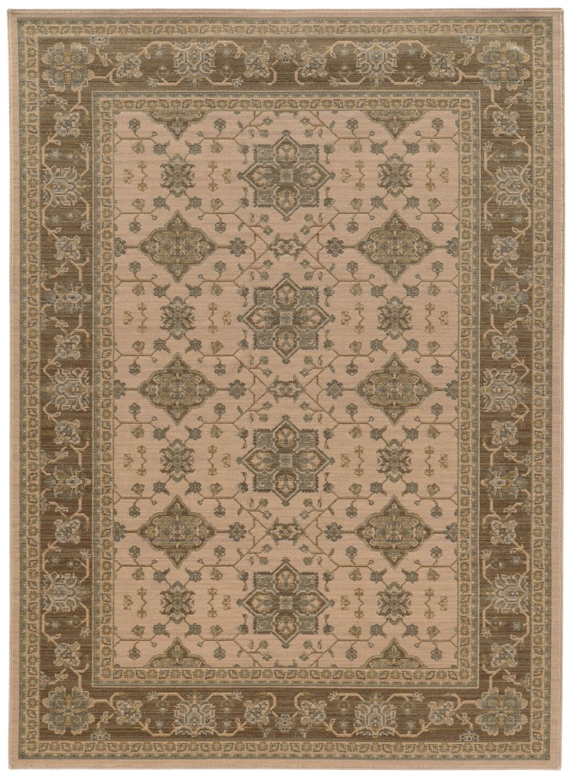 Douglassville Oriental Beige Area Rug Rug Size: Rectangle 7'10