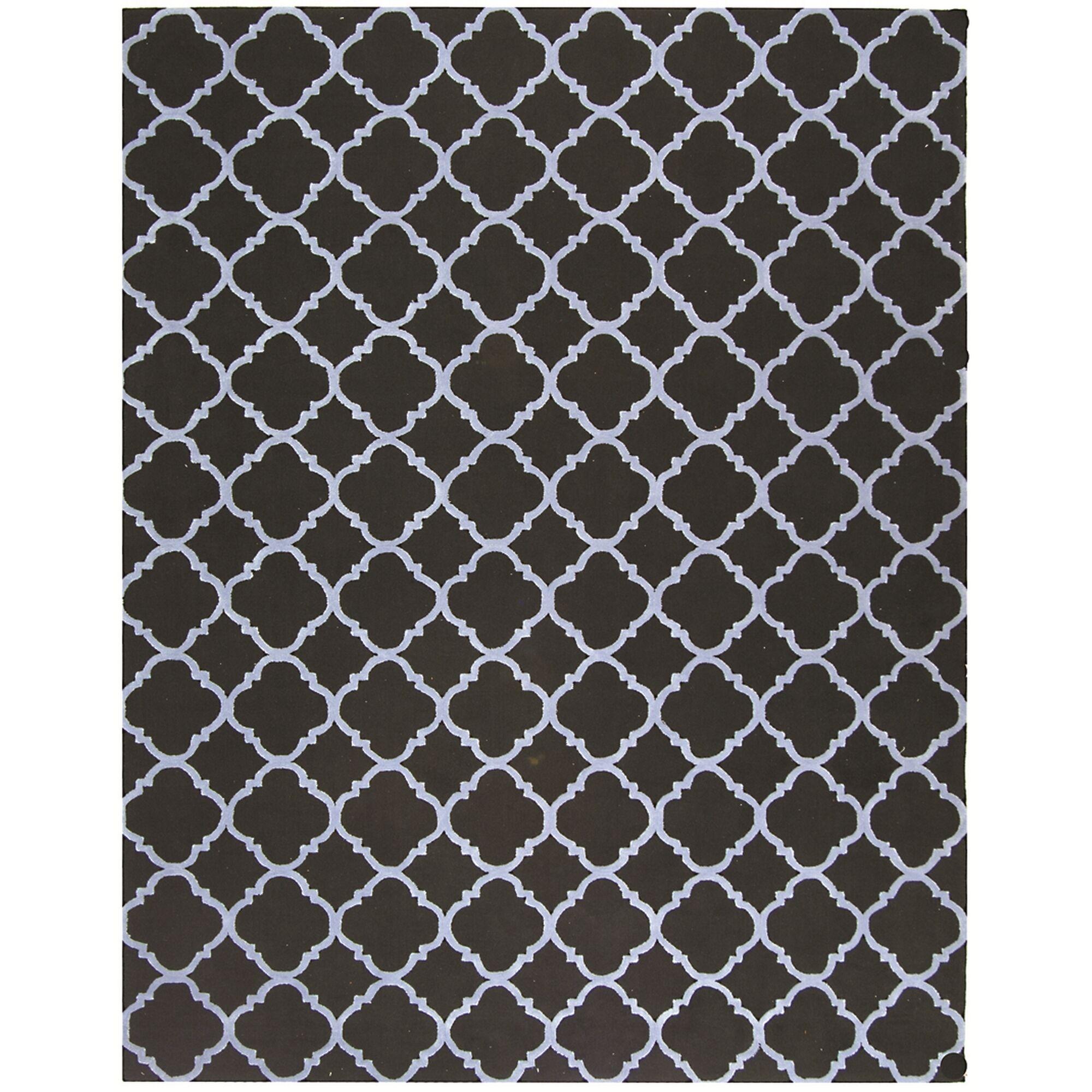 Fullerton Black/Blue Geometric Area Rug Rug Size: Rectangle 7'9