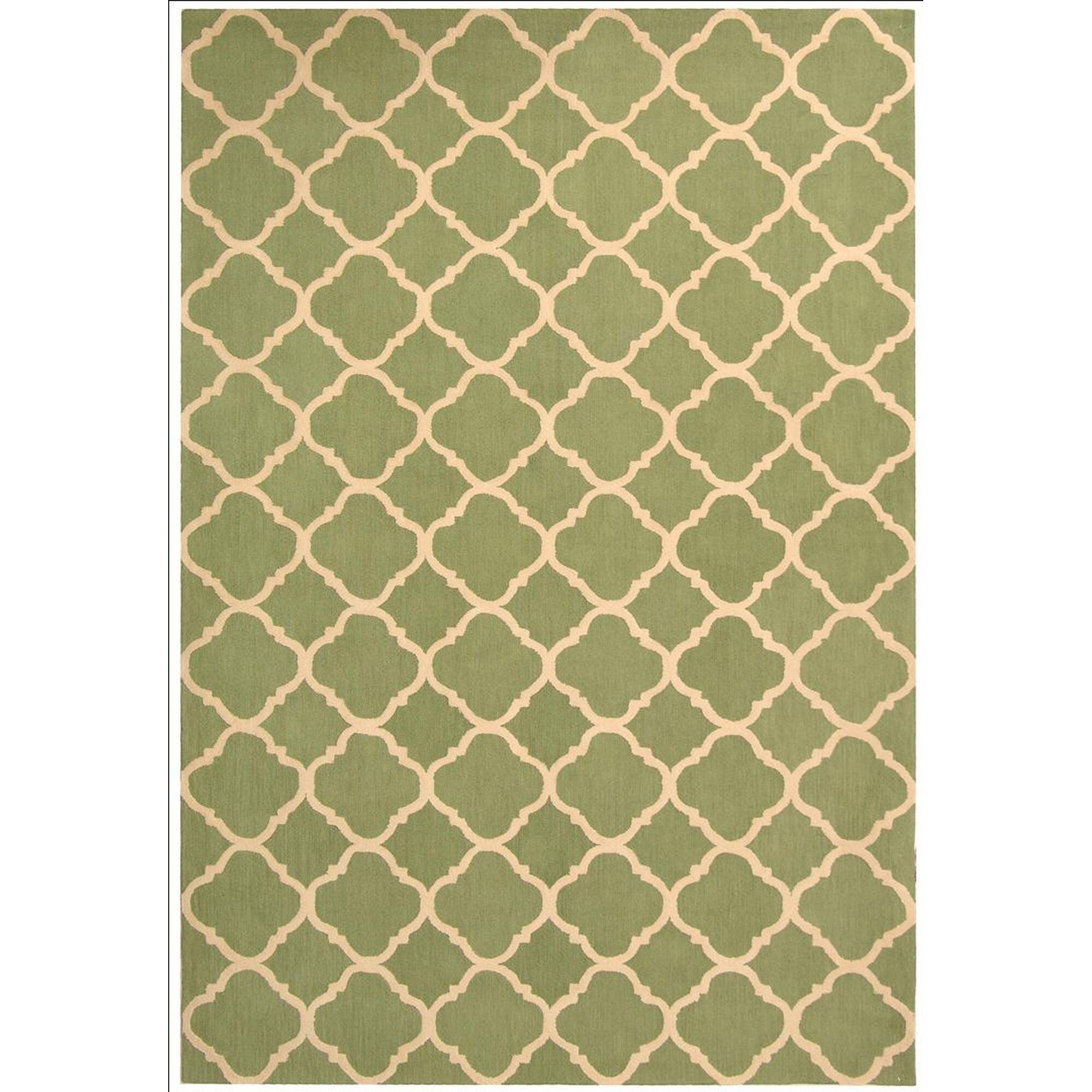Fullerton Green/Ivory Geometric Area Rug Rug Size: Square 7'