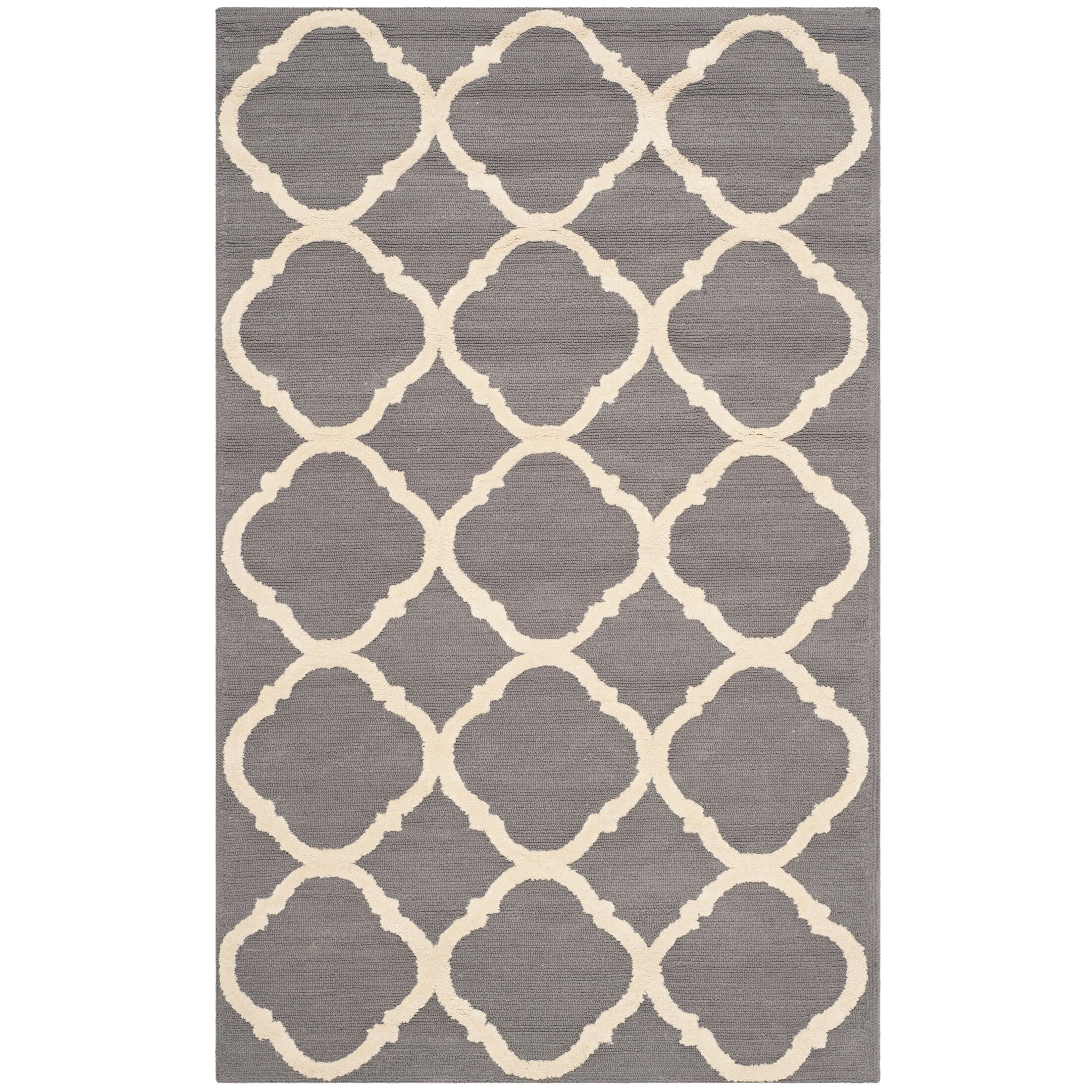 Fullerton Brown/Ivory Geometric Area Rug Rug Size: Rectangle 3'9