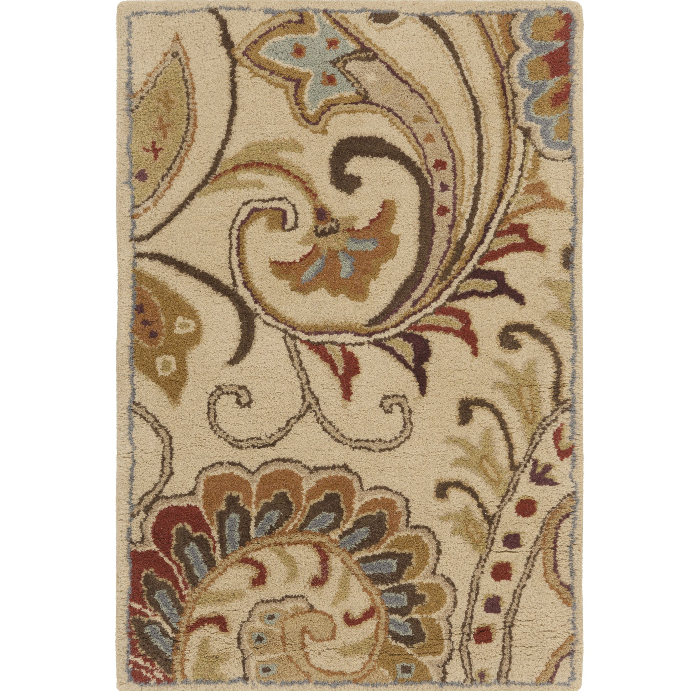 Forres Hand-Tufted Blue/Brown Area Rug Rug Size: Rectangle 2' x 3'