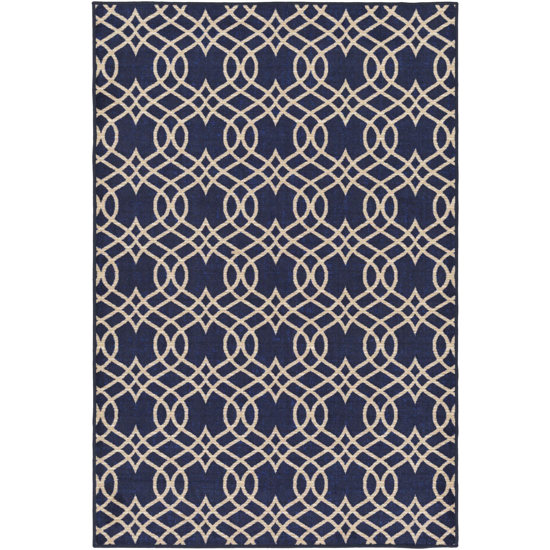 Hardenburgh Blue/Beige Area Rug Rug Size: Rectangle 5' x 8'