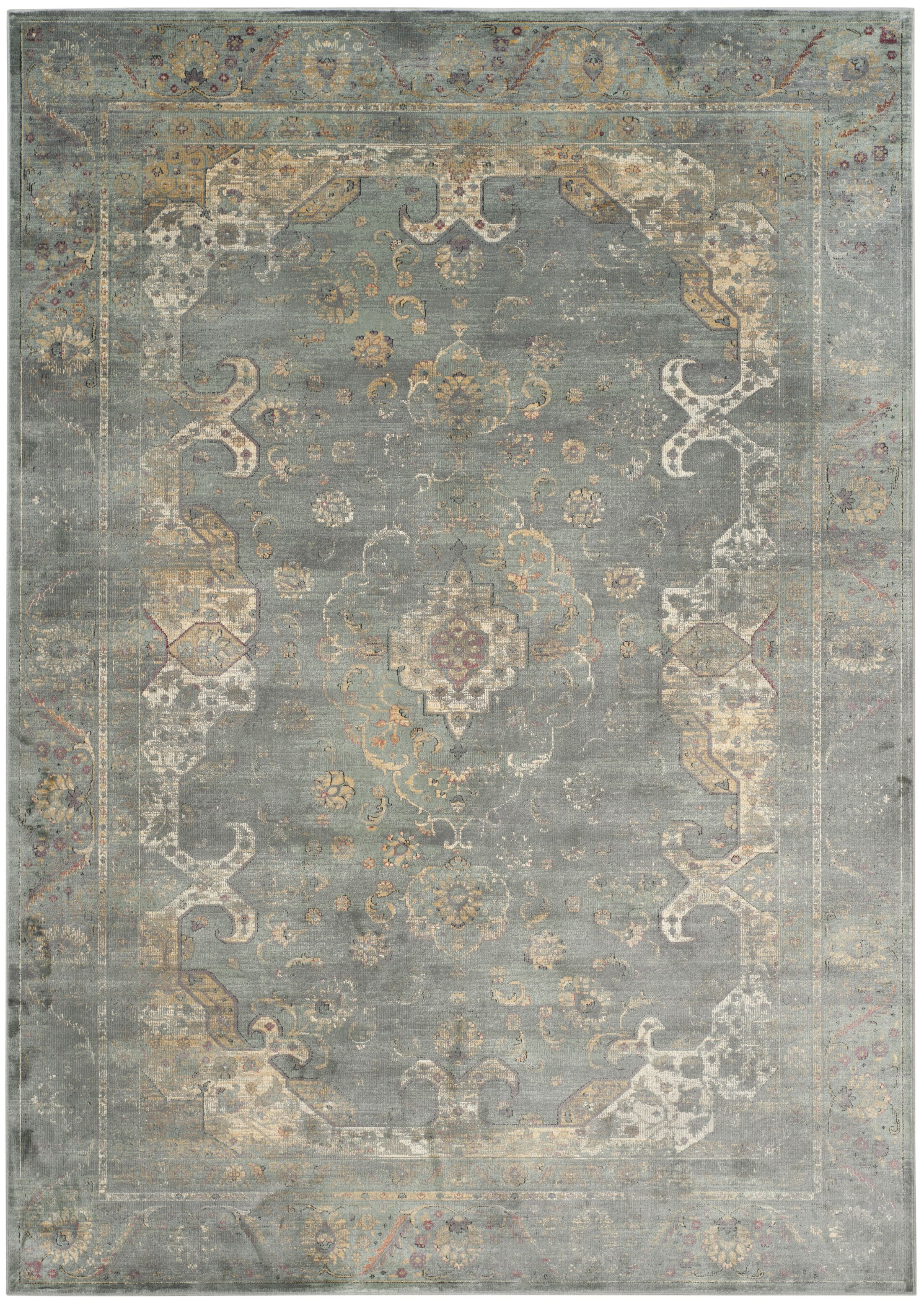 Obrien Gray Area Rug Rug Size: Rectangle 8' x 11'2