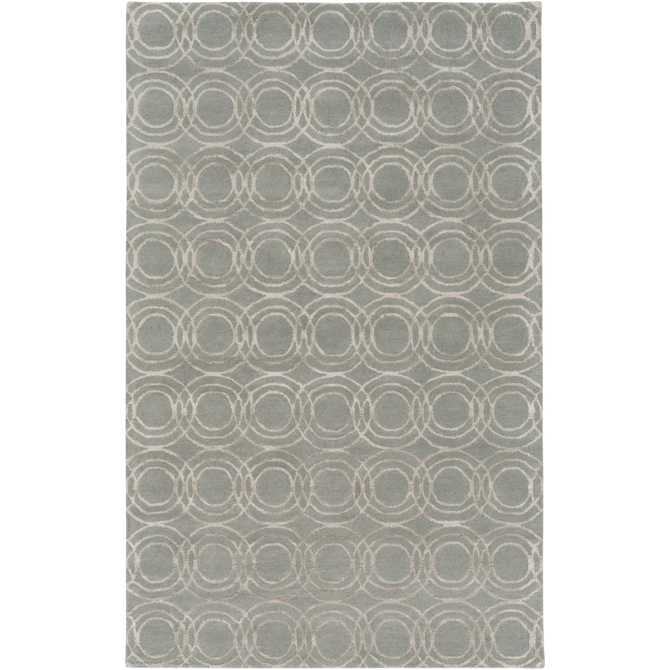 Meader Hand-Tufted Light Gray/Khaki Area Rug Rug Size: Rectangle 8' x 10'