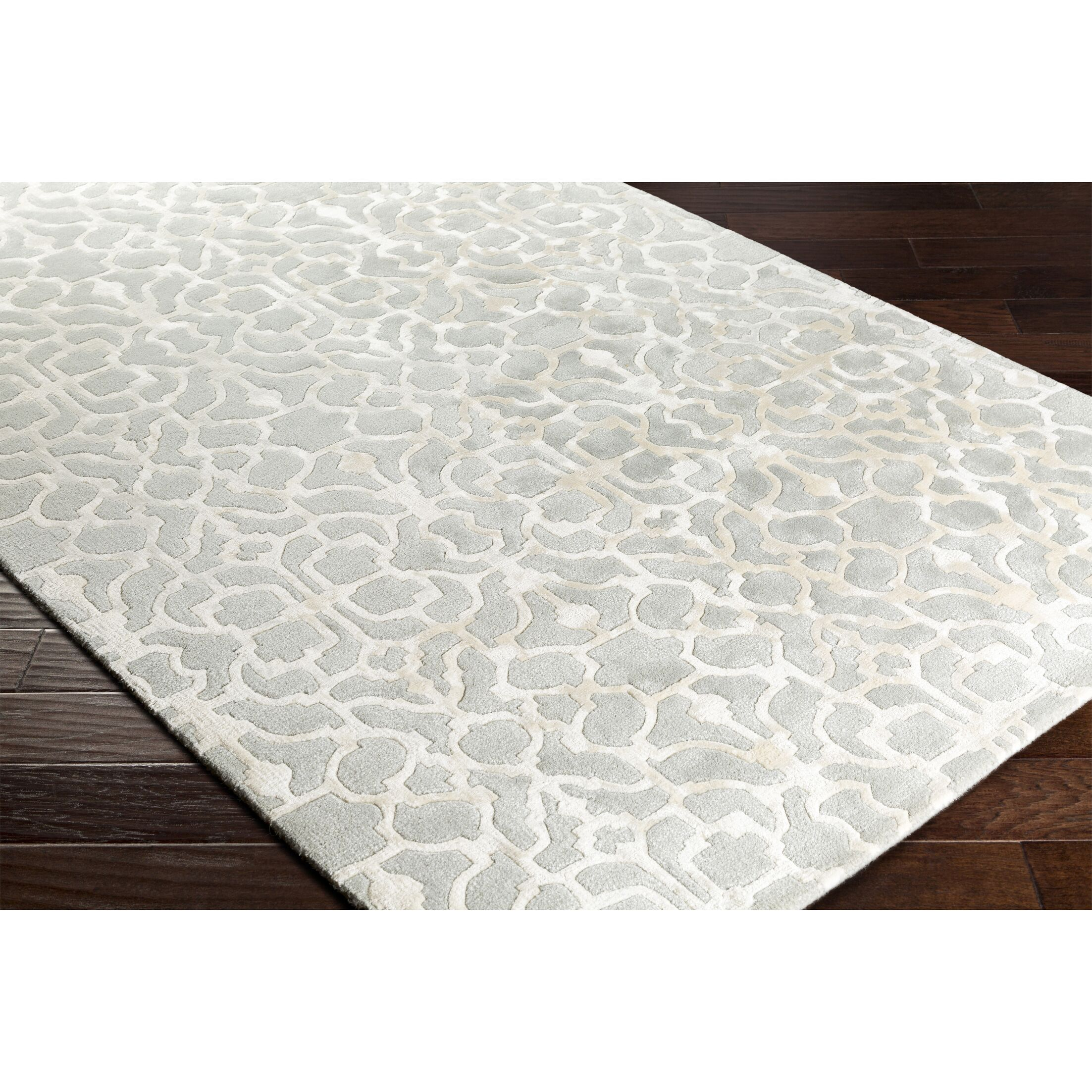 Silvera Hand-Tufted Gray/Neutral Area Rug Rug Size: Rectangle 5' x 7'6