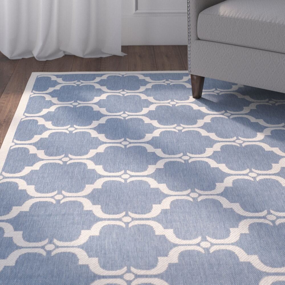 Rockbridge Blue/Beige Indoor/Outdoor Area Rug Rug Size: Rectangle 9' x 12'