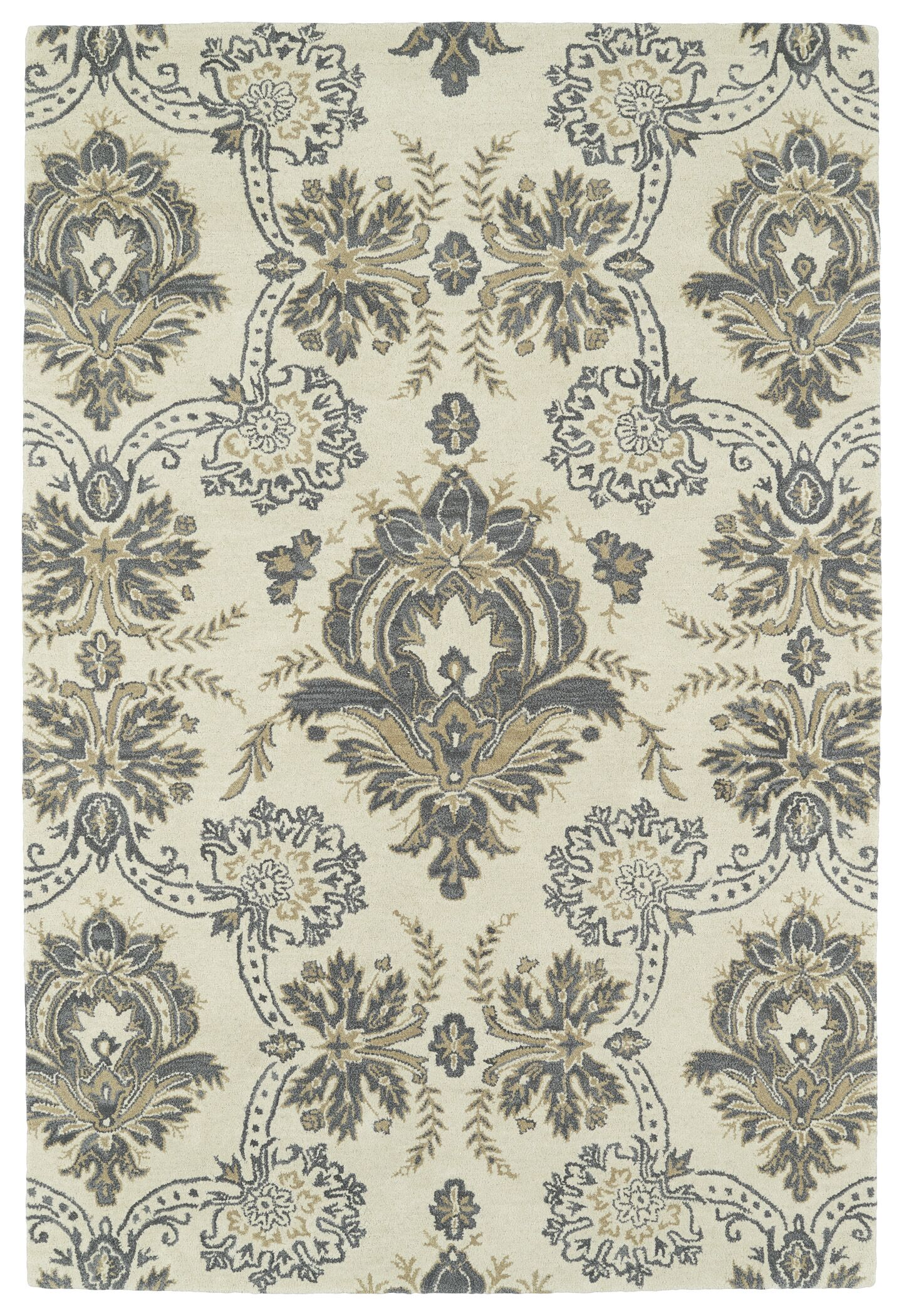 Mariemont Hand-Tufted Ivory Area Rug Rug Size: Rectangle 3' x 5'