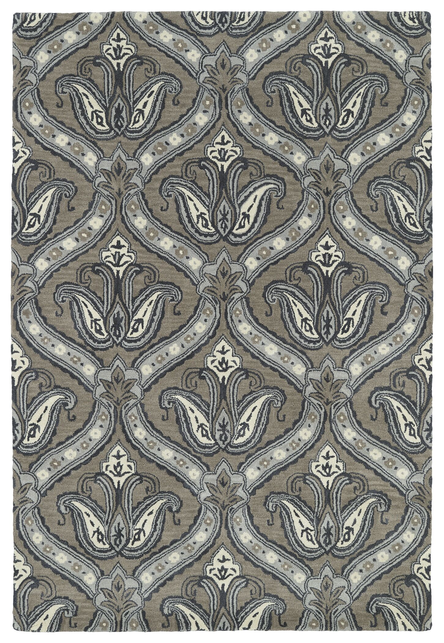 Mariemont Hand-Tufted Taupe Area Rug Rug Size: Rectangle 3' x 5'