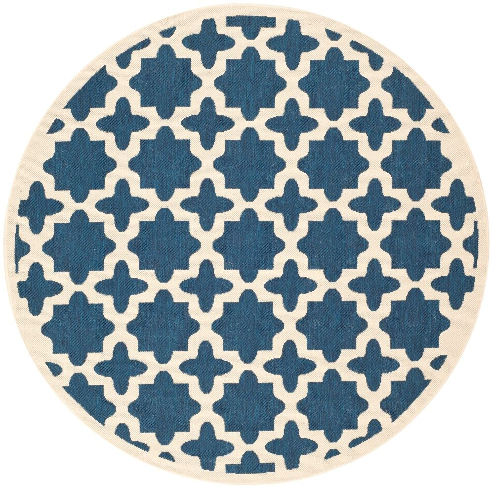 Osgood Blue Indoor/Outdoor Area Rug Rug Size: Round 6'7