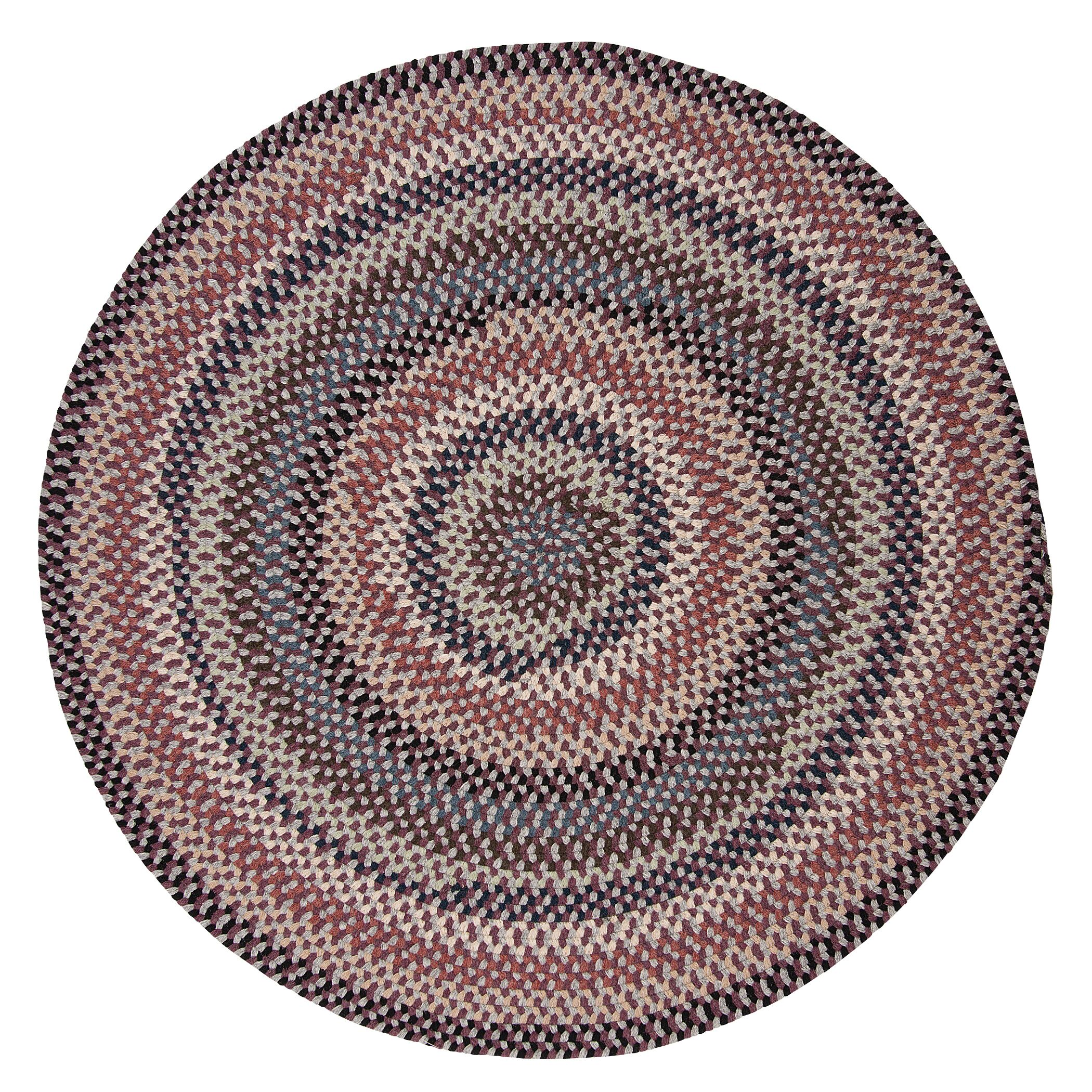 Lettie Purple Area Rug Rug Size: Round 12'