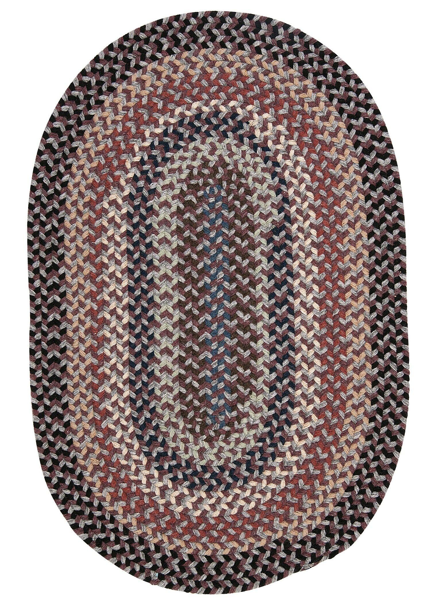 Lettie Purple Area Rug Rug Size: Oval 7' x 9'