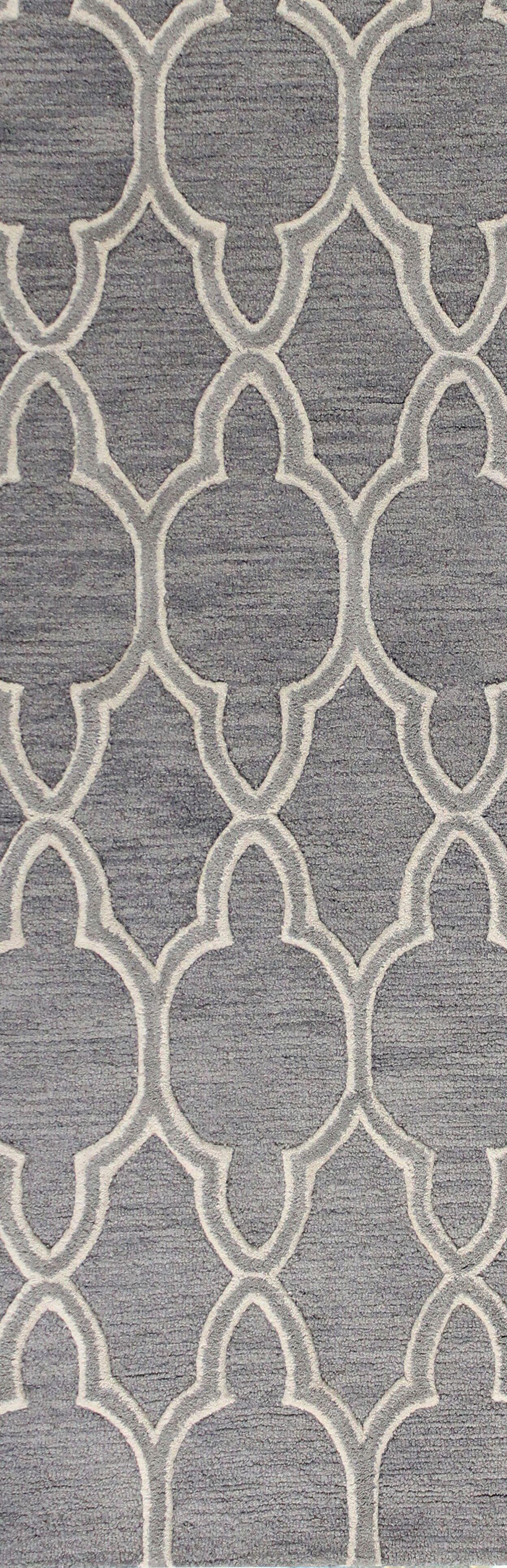 Octavia Hand-Tufted Grey Area Rug Rug Size: Runner 2'6