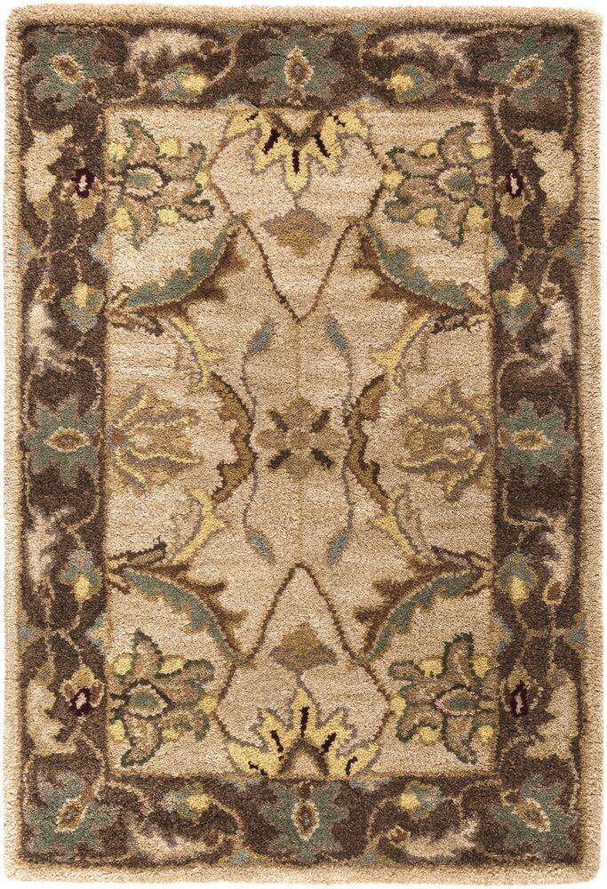 Florence Hand-Woven Brown Area Rug Rug Size: Rectangle 3'3