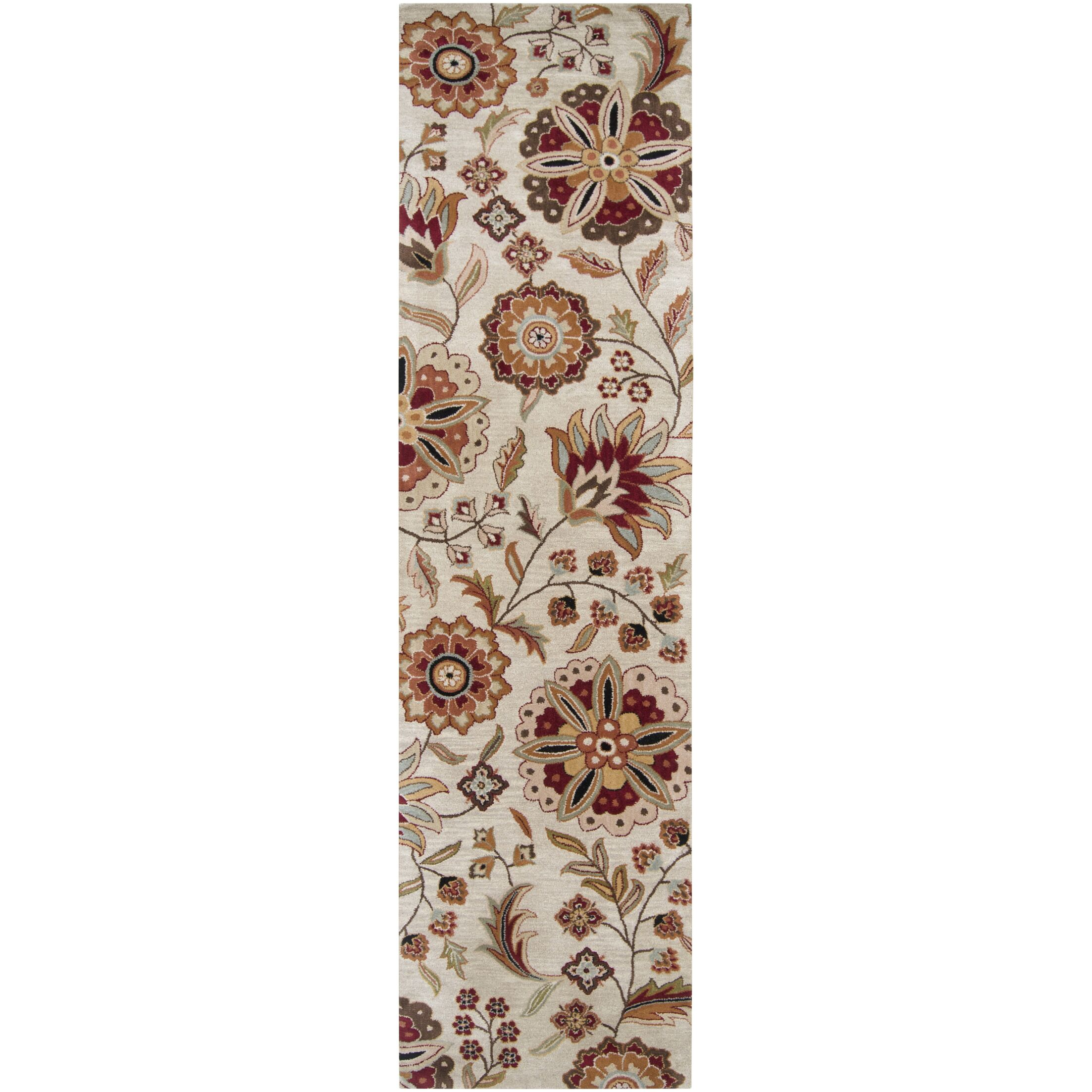 Jasmine Parchment Tufted Wool Area Rug Rug Size: Runner 3' x 12'