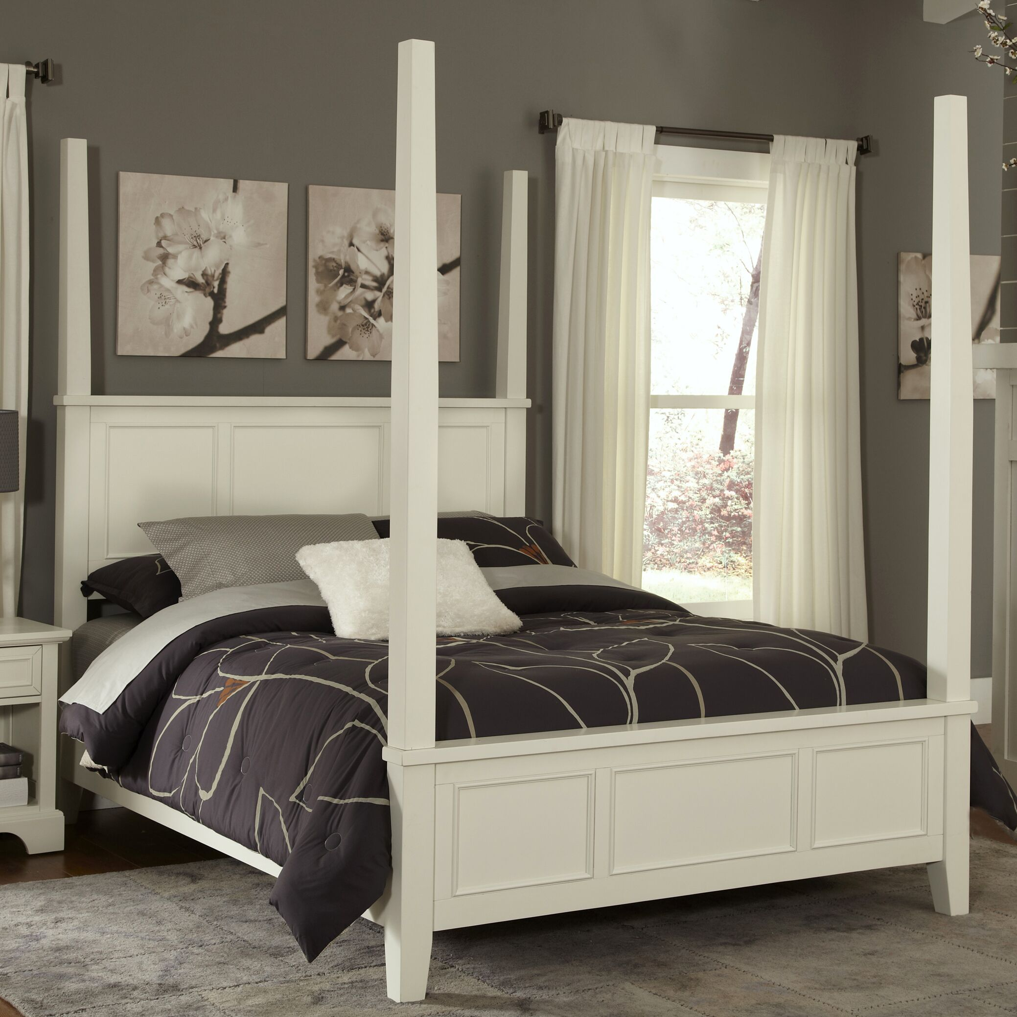 Lafferty Four Poster Bed Size: King