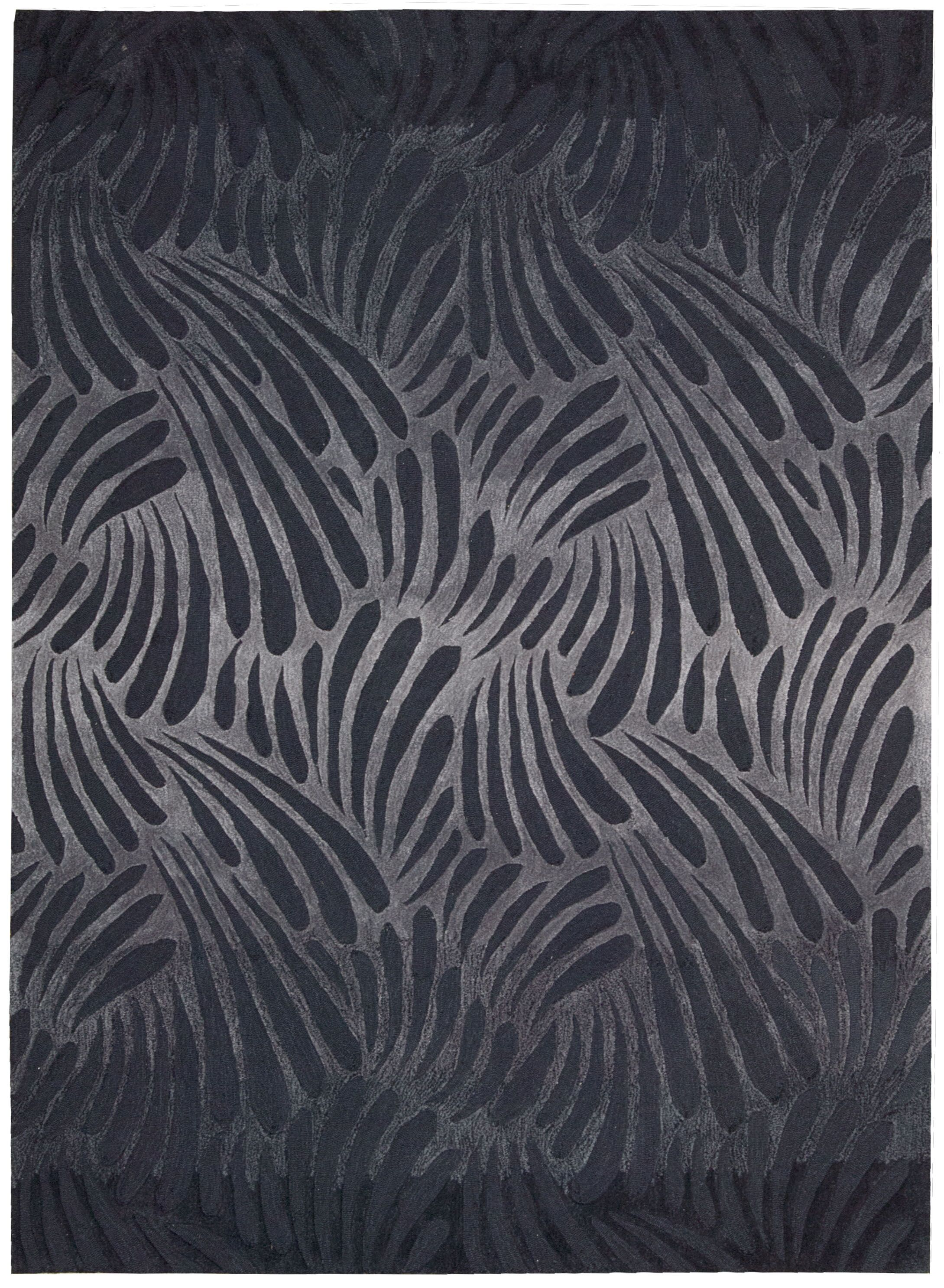 Irina Hand-Tufted Charcoal Area Rug Rug Size: Rectangle 5' x 7'6