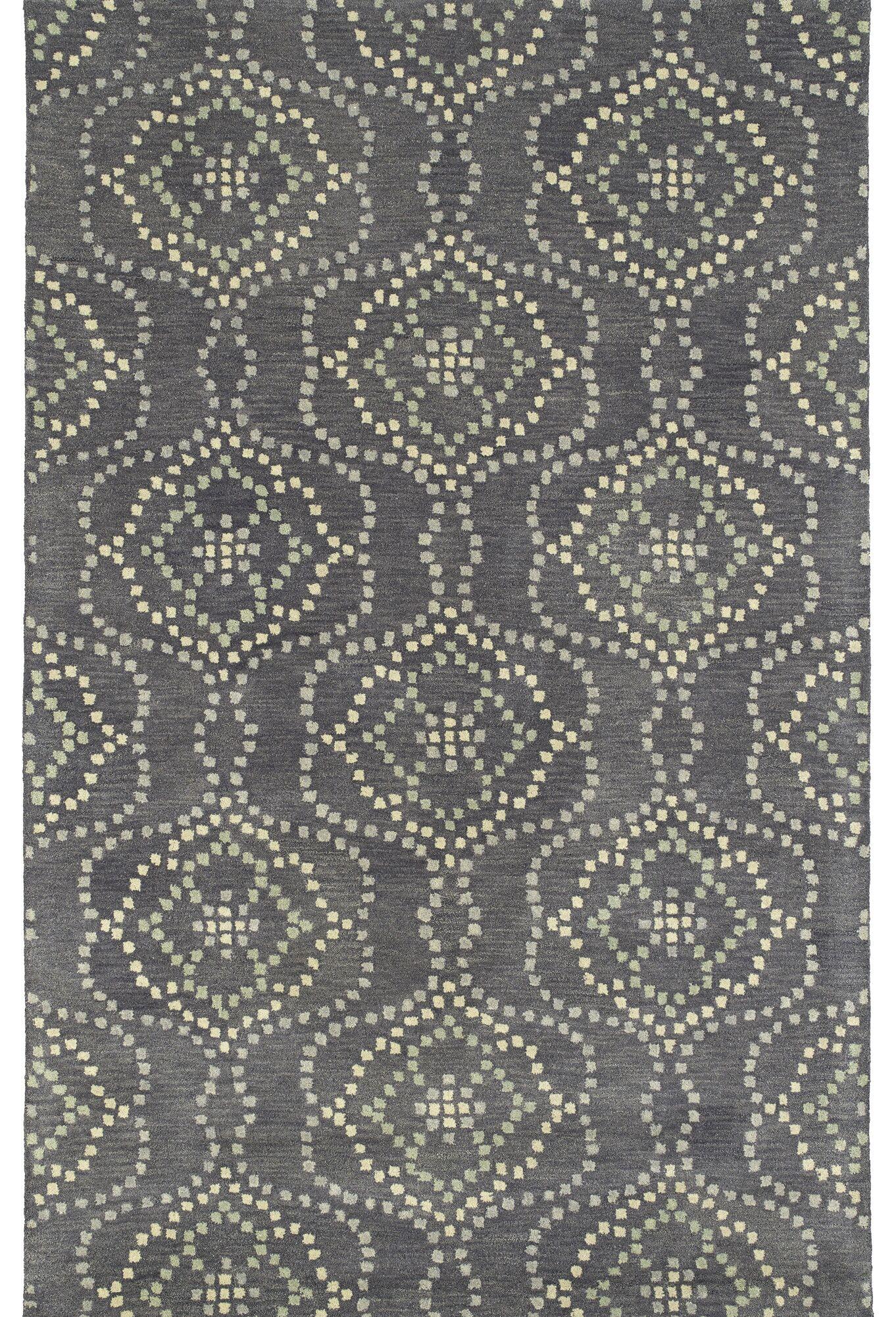 Bergland Hand Tufted Gray/Beige Area Rug Rug Size: Rectangle 3'6