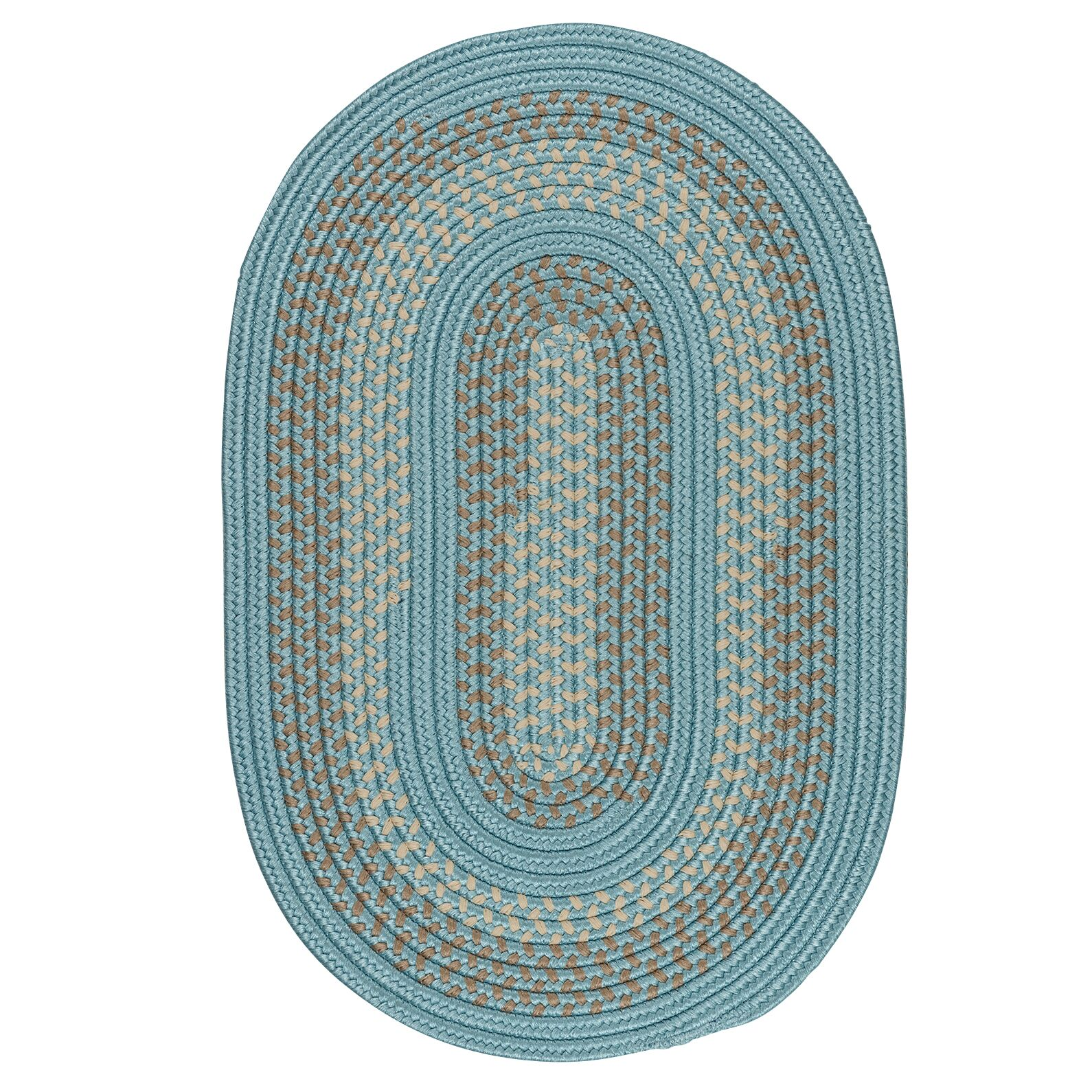 Knudtson Federal Blue Indoor/Outdoor Area Rug Rug Size: Oval 4' x 6'