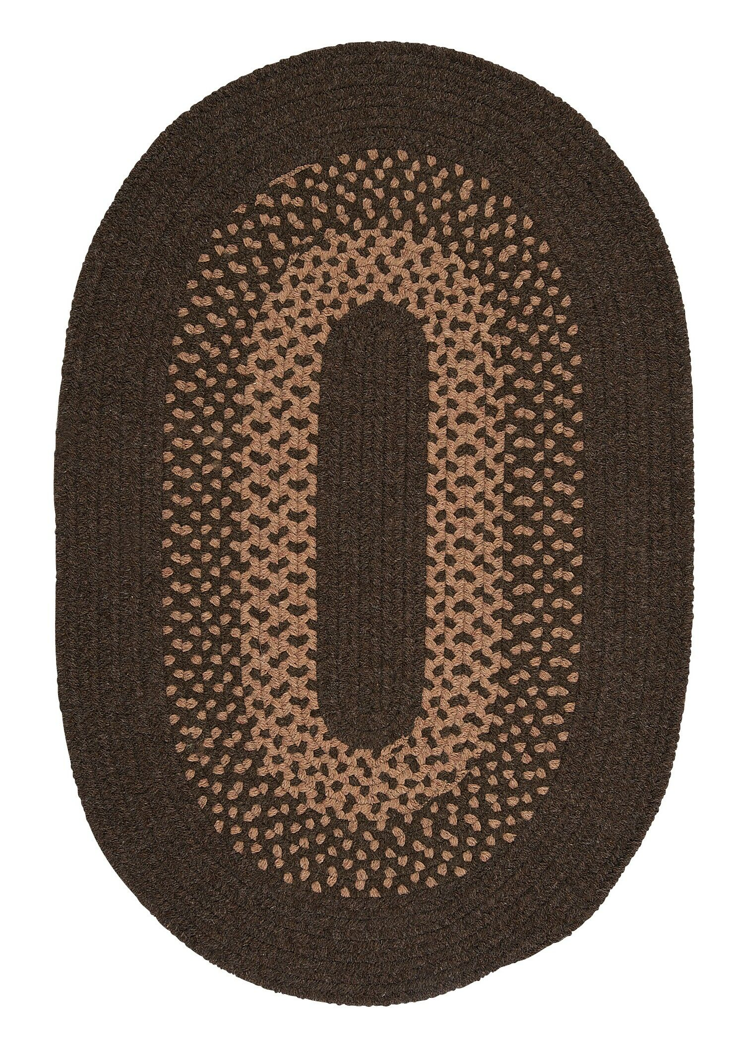Lionel Roasted Brown Area Rug Rug Size: Oval 7' x 9'