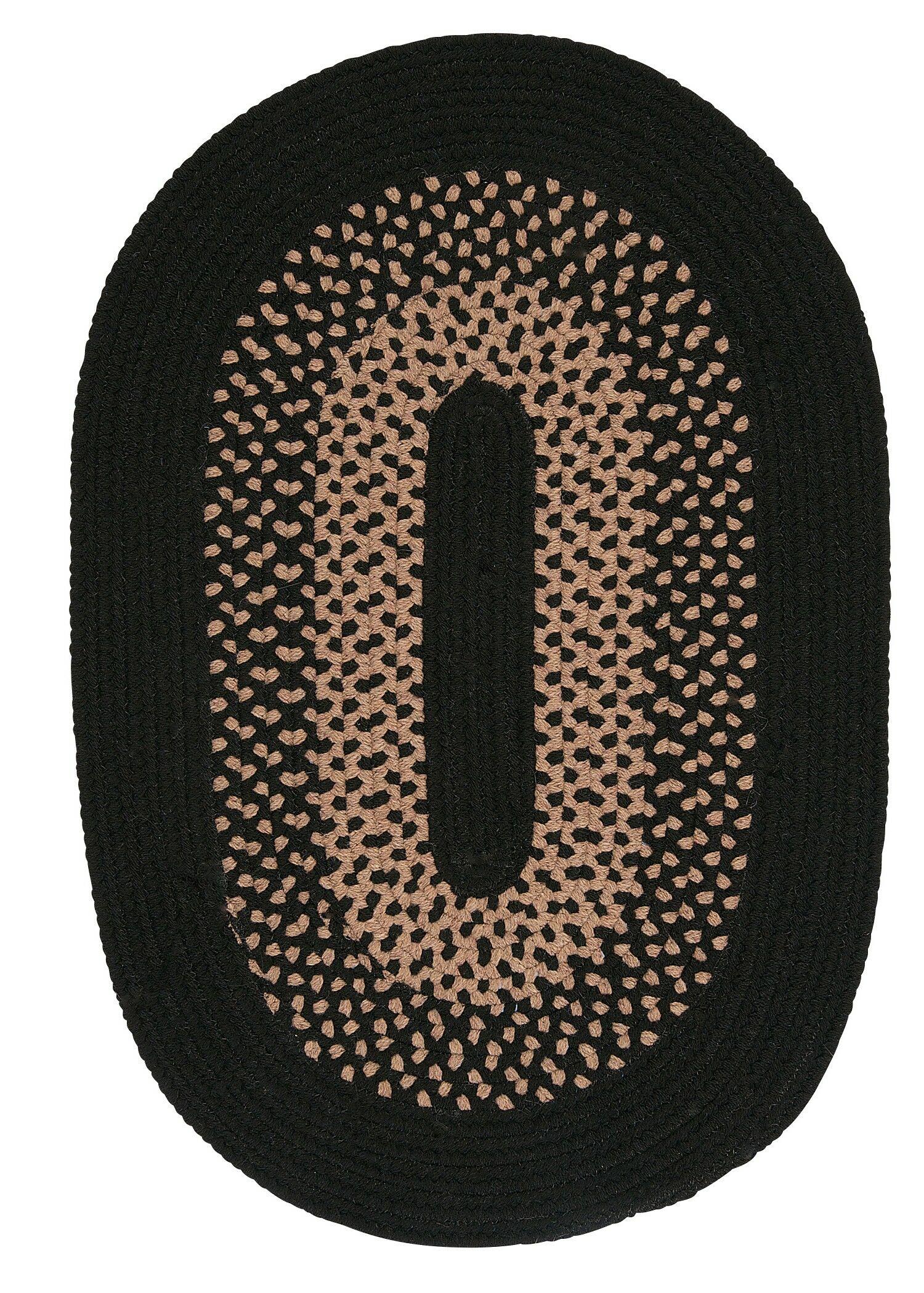 Lionel Jet Black Area Rug Rug Size: Round 8'