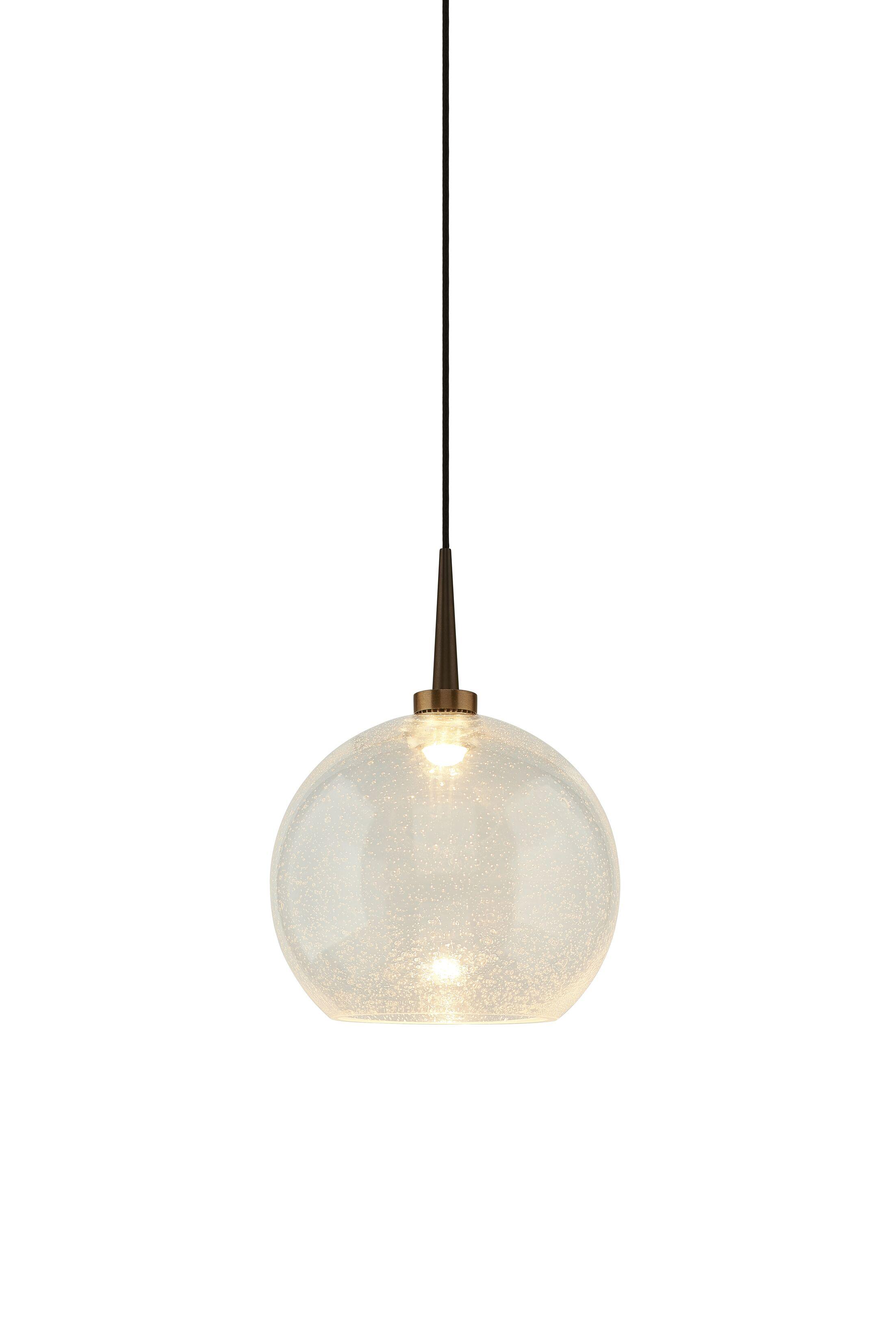 Carvalho 1-Light Globe Pendant Finish: Bronze, Shade Color: Red