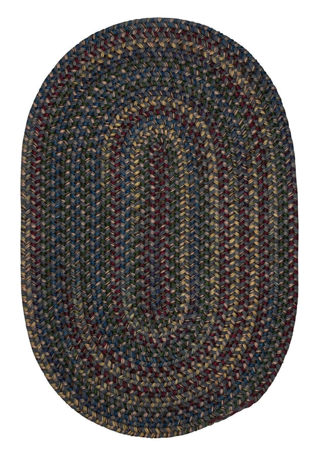 Lippold Charcoal Area Rug Rug Size: Oval 8' x 11'