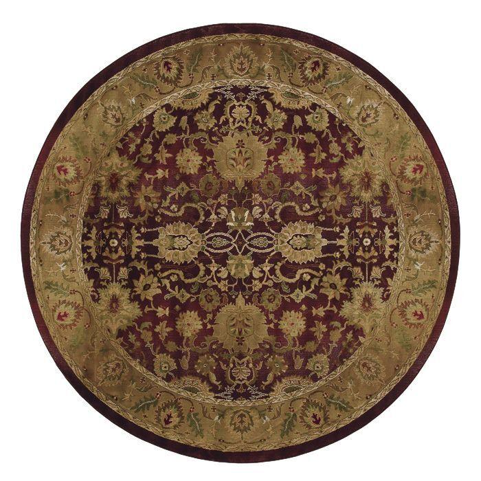 Ferrer Purple/Gold Area Rug Rug Size: Round 8'