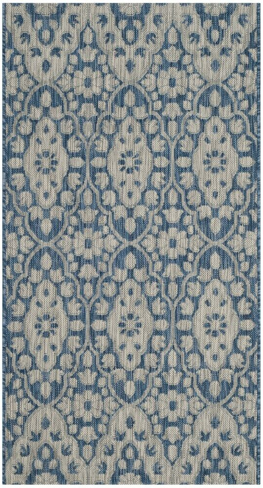 Regal Gray/Navy Area Rug Rug Size: Rectangle 2'7