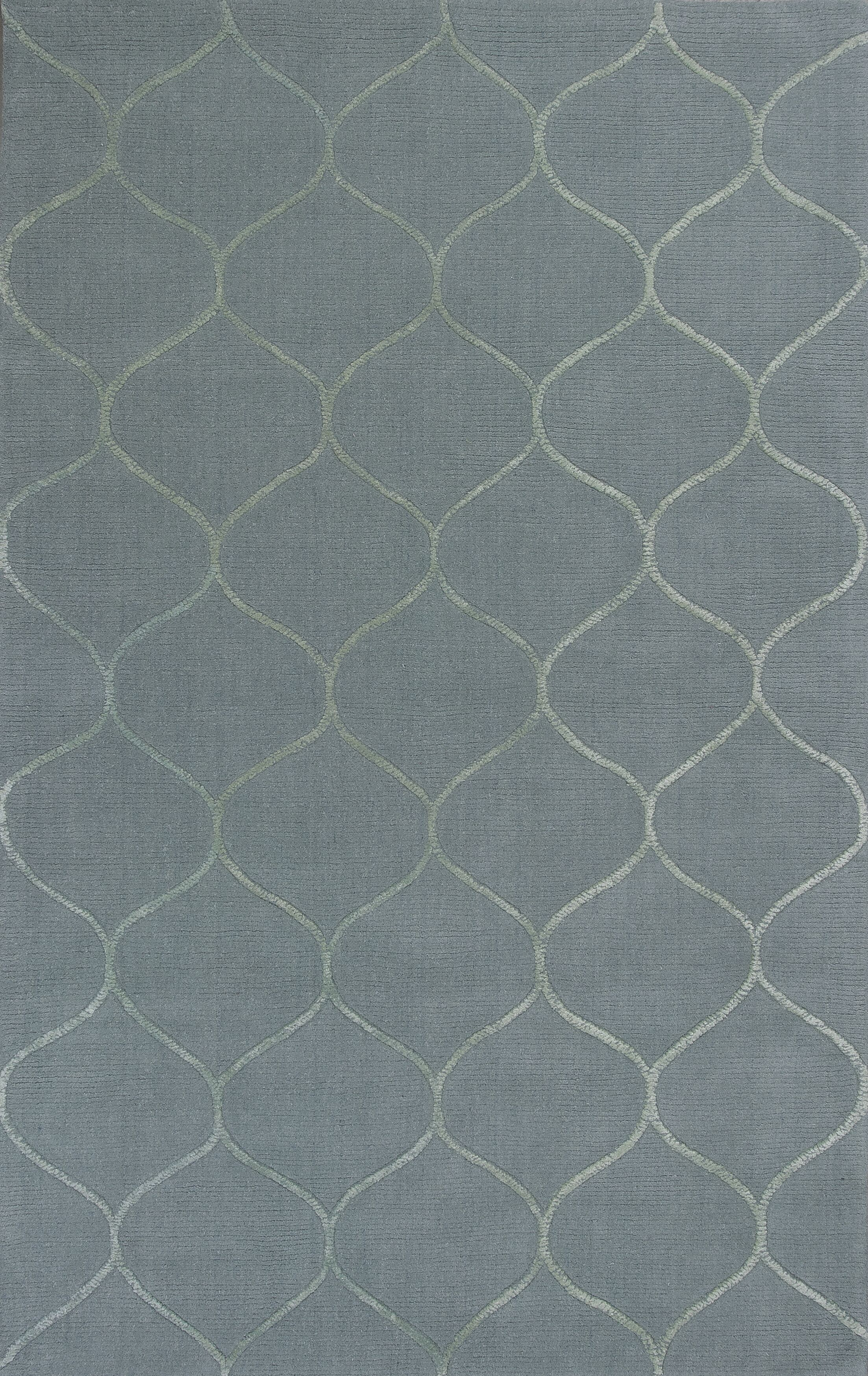 Bog Water Harmony Frost Blue Area Rug Rug Size: Rectangle 3'3