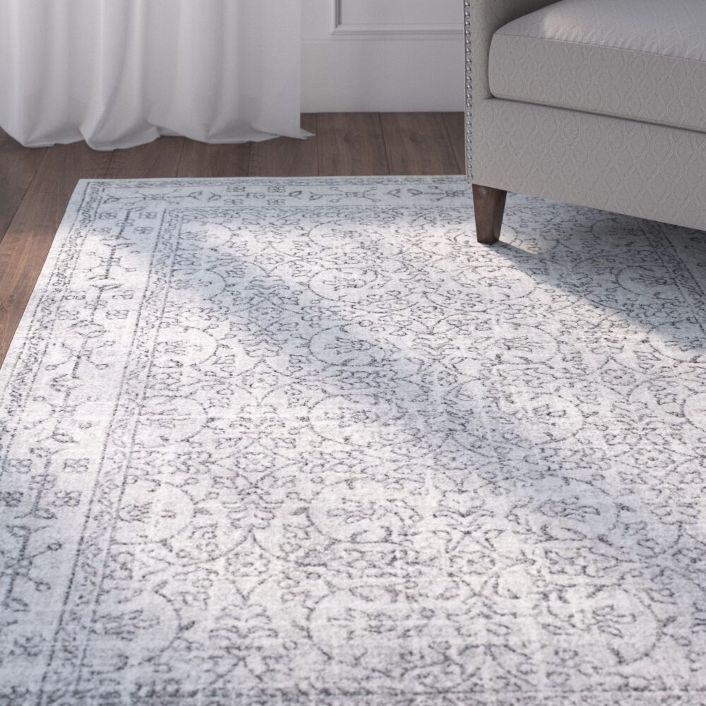 Utterback Gray Area Rug Rug Size: Rectangle 5' x 7'5