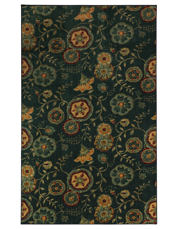 Sisson Green/Orange Area Rug Rug Size: Rectangle 5' x 8'