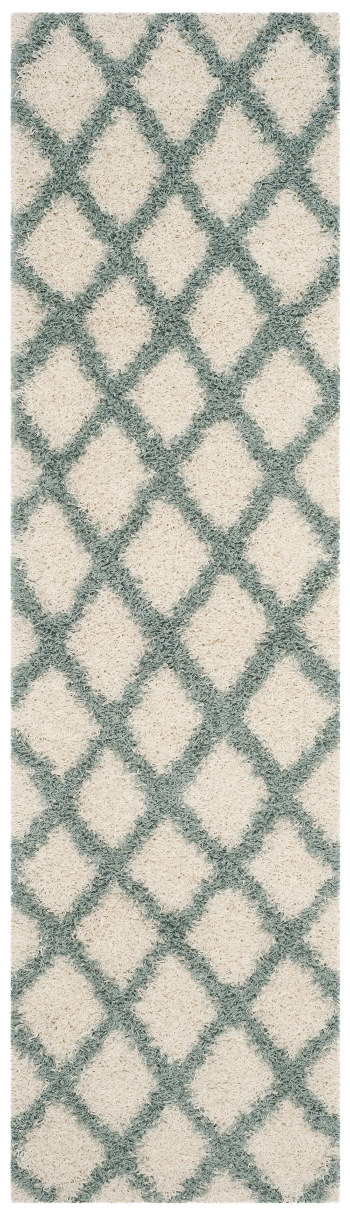 Laurelville Shag Ivory/Seafoam Area Rug Rug Size: 4' x 6'