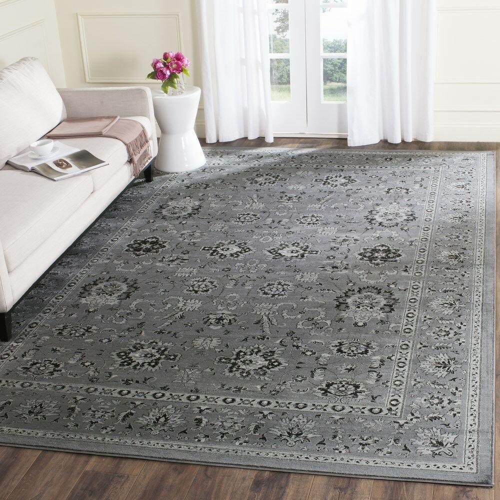 Bainsby Dark Gray / Light Gray Area Rug Rug Size: Rectangle 9' x 12'