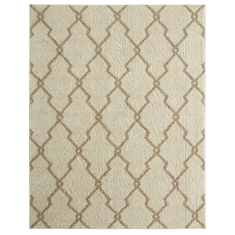Dumbarton Interlocked Lines Beige Area Rug Rug Size: Rectangle 8' x 10'