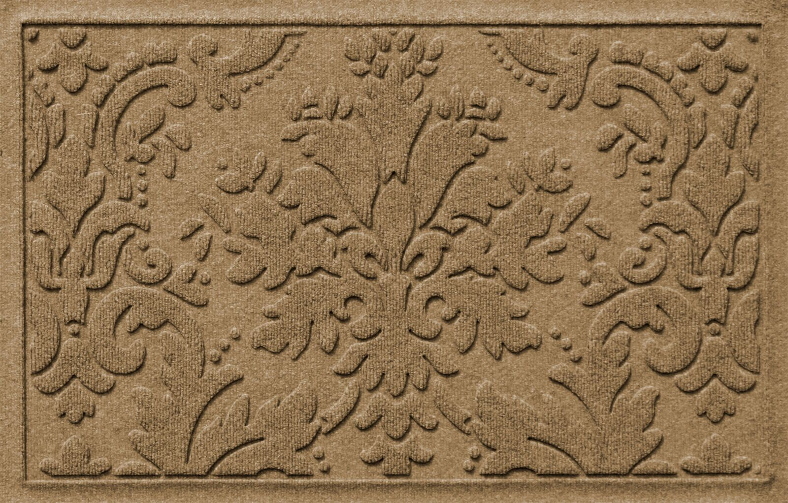 Olivares Damask Doormat Mat Size: Rectangle 2'10