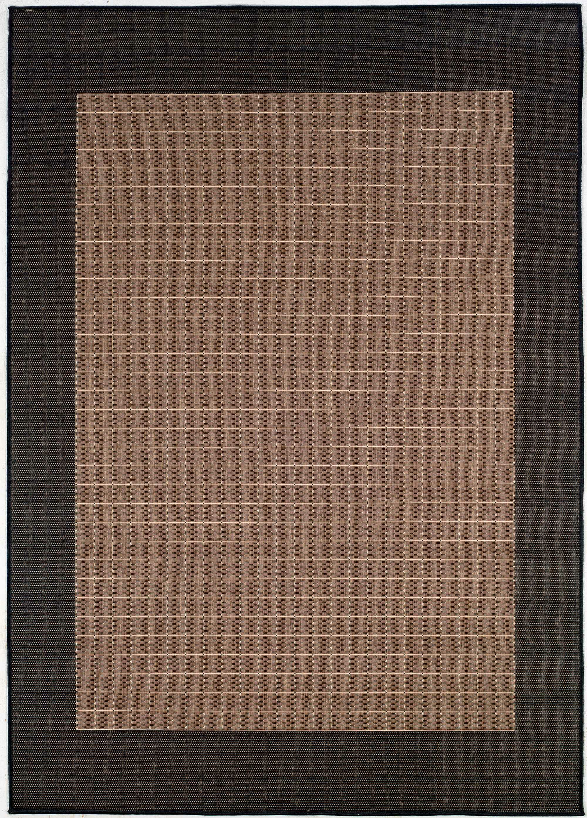 Halsey Checkered Field Cocoa/Black Indoor/Outdoor Area Rug Rug Size: Rectangle 5'10