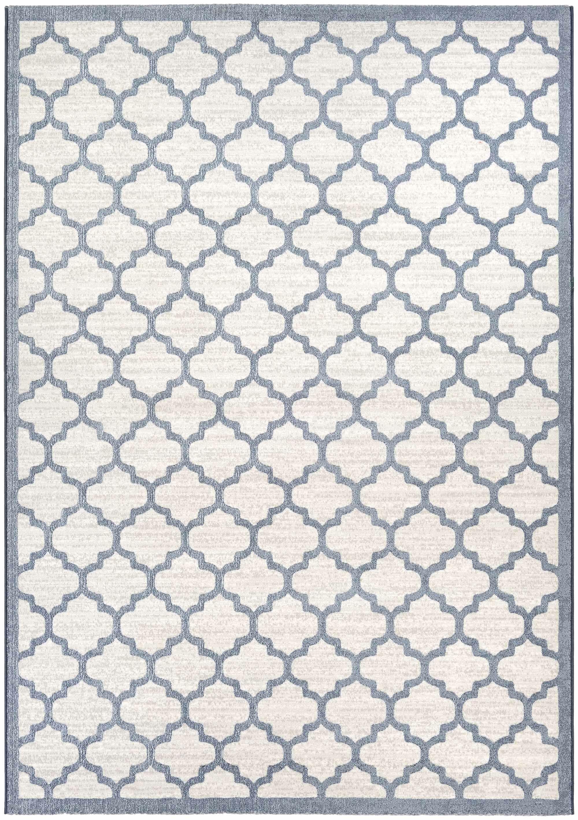 Goldsmith Oyster/Slate Blue Area Rug Rug Size: Rectangle 5'3