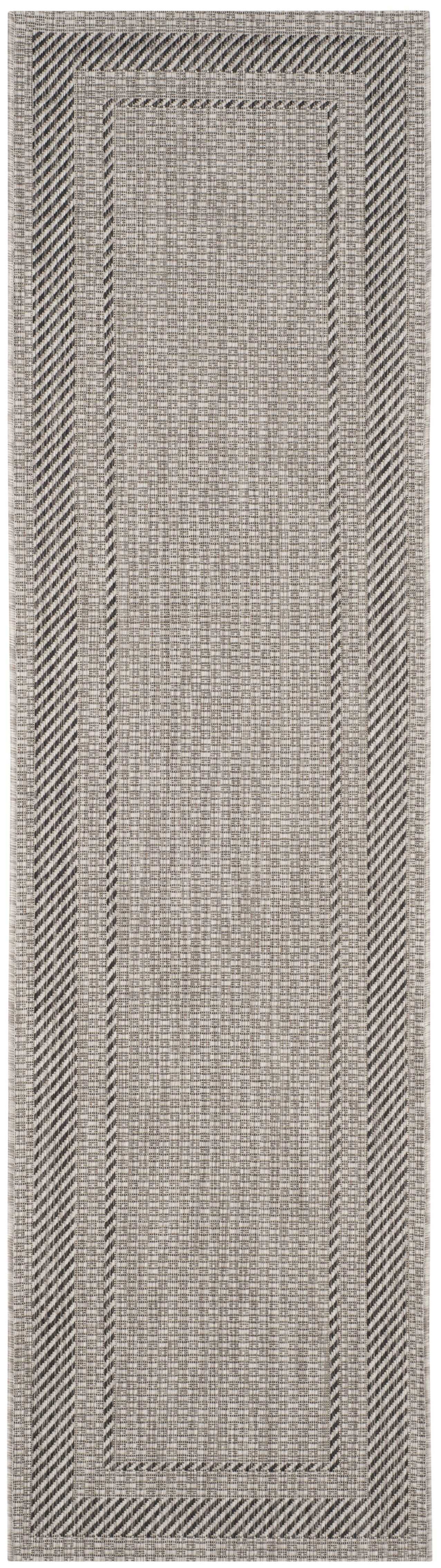 Rockbridge Beige/Black Indoor/Outdoor Area Rug Rug Size: Runner 2'3