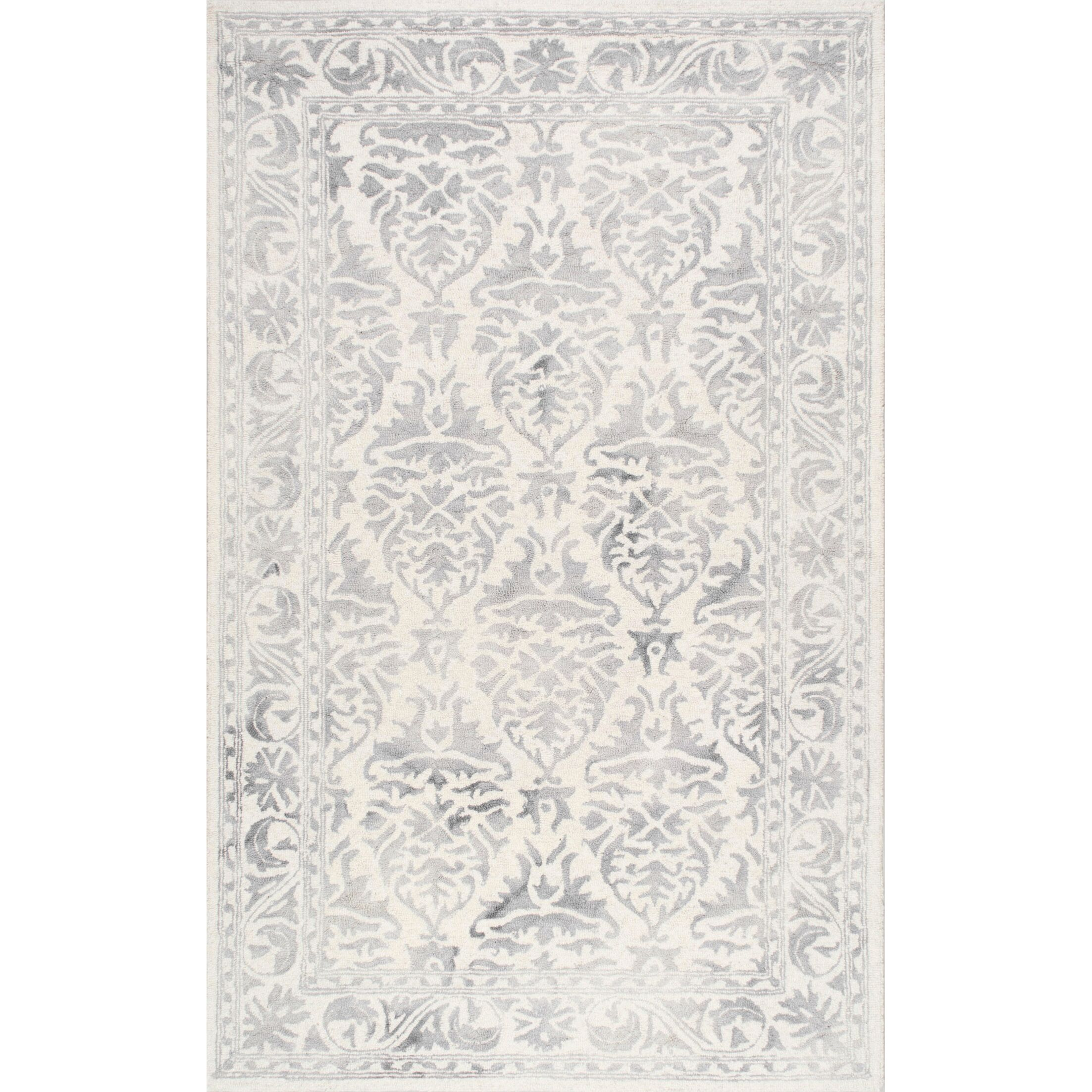 Mount Salem Hand-Woven Wool Light Gray Area Rug Rug Size: Rectangle 5' x 8'
