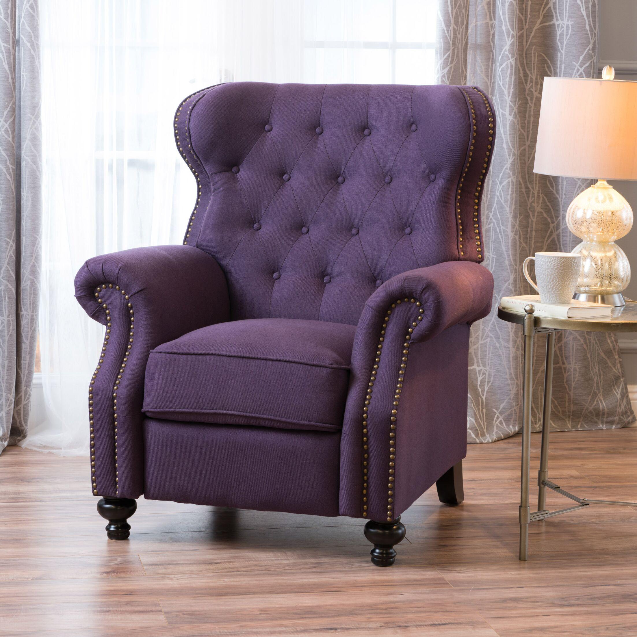 Leverette Recliner Upholstery: Plum