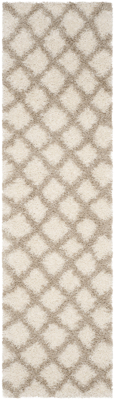 Knoxville Shag Beige/Ivory Area Rug Rug Size: Rectangle 2'-3