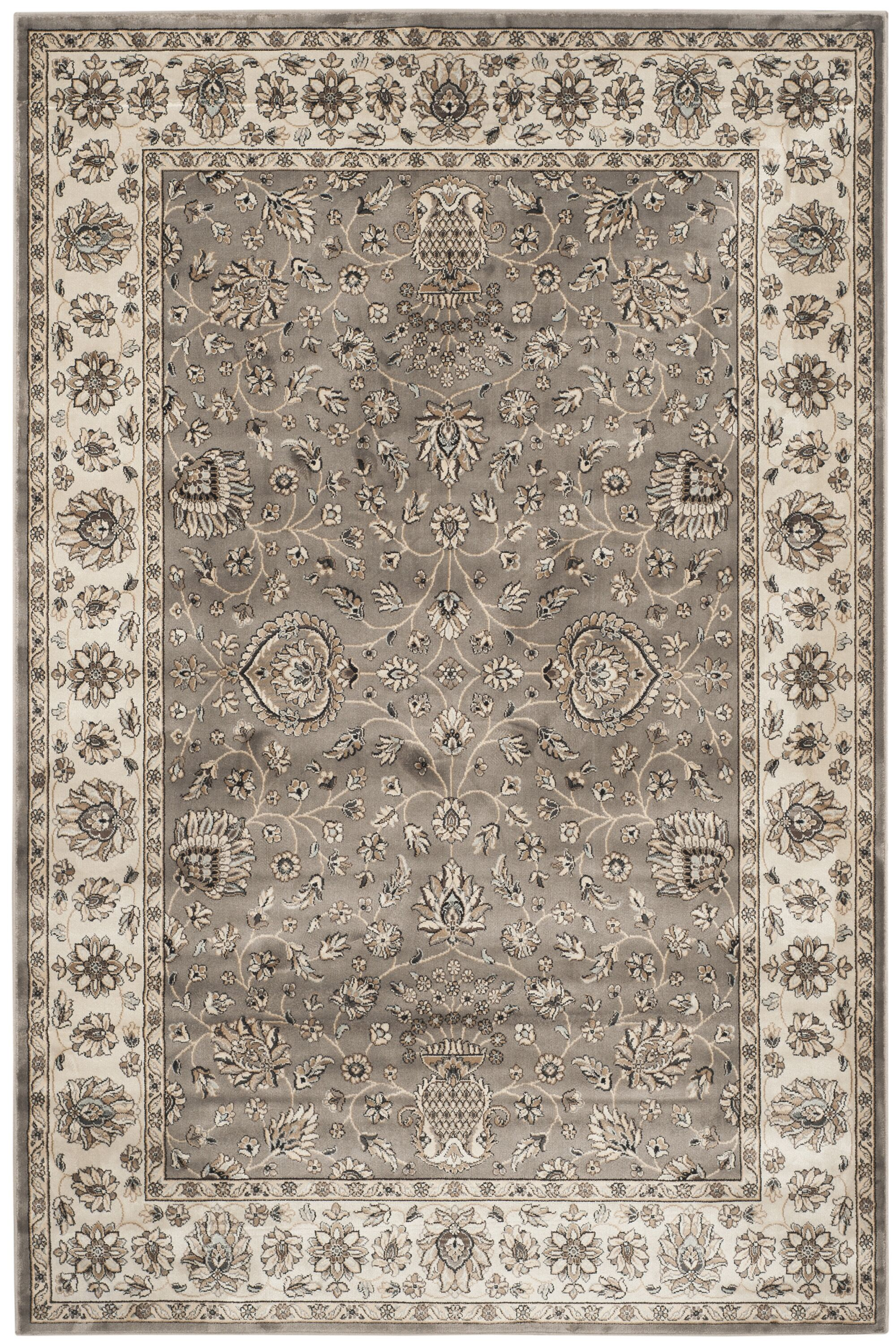 Hewitt Grey/Ivory Area Rug Rug Size: Rectangle 5'3
