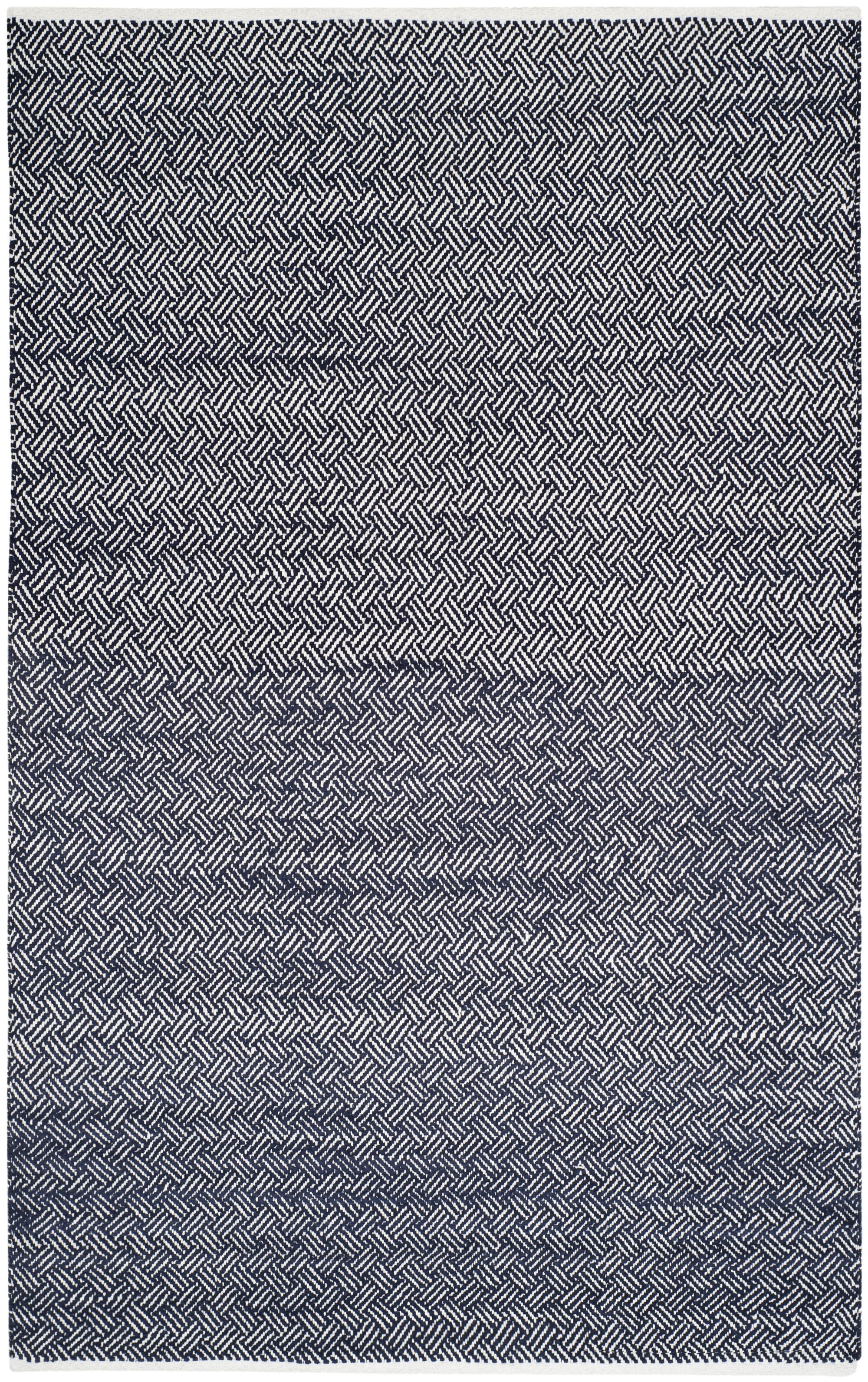 Boston Hand-Woven Navy Area Rug Rug Size: Rectangle 6' x 9'