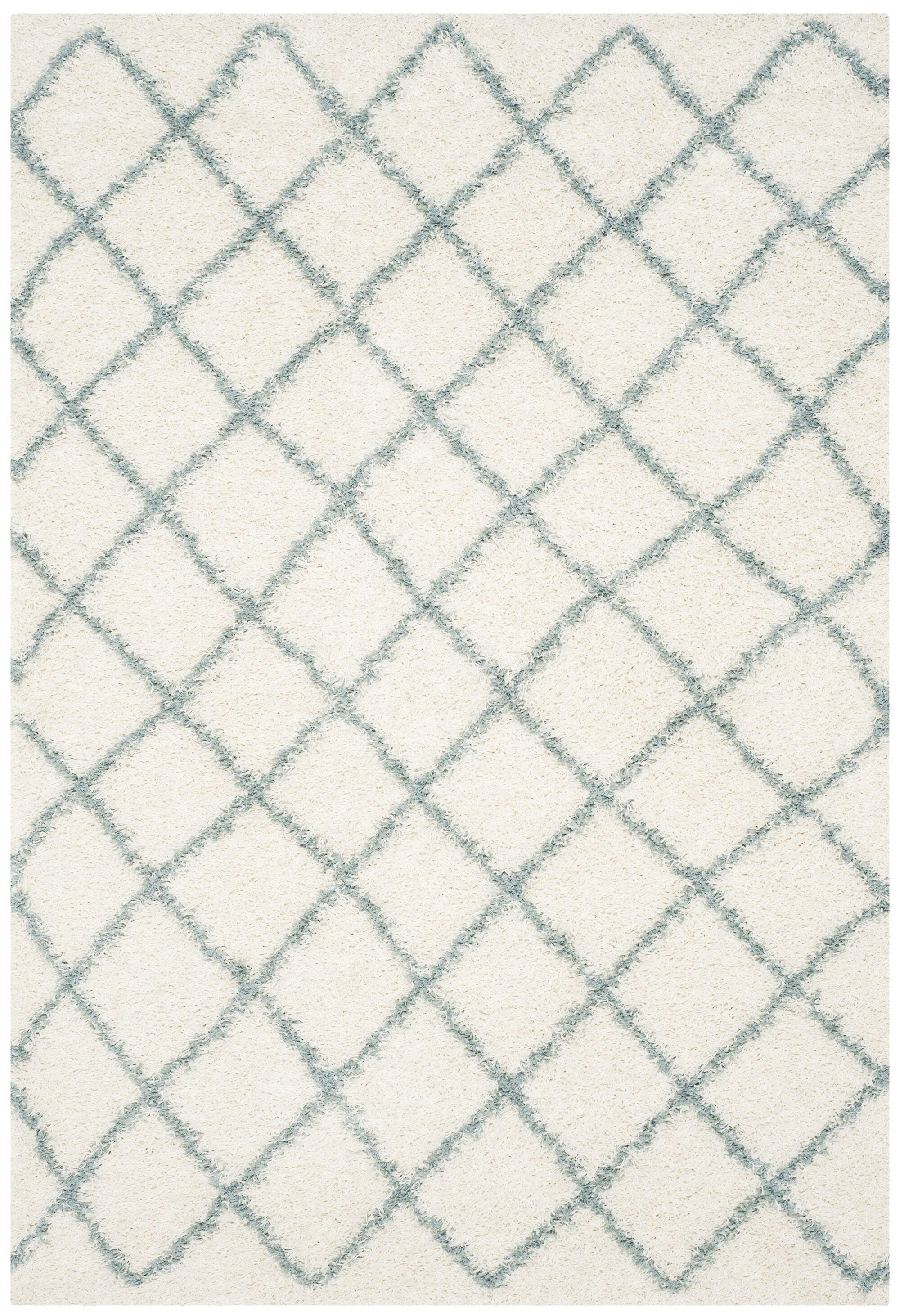 Pate Ivory / Seafoam Area Rug Rug Size: Rectangle 6' x 9'
