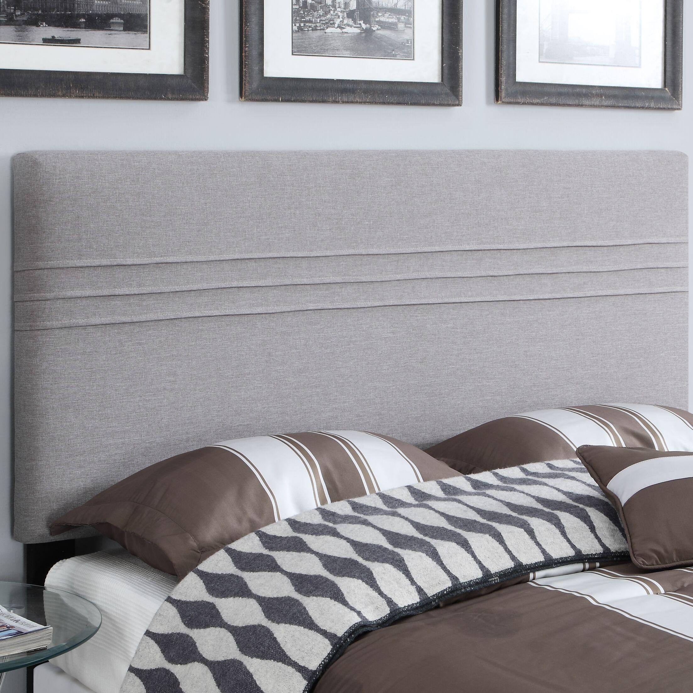 Hadleigh Upholstered Panel Headboard Size: King/California King, Upholstery: Hayden Silver