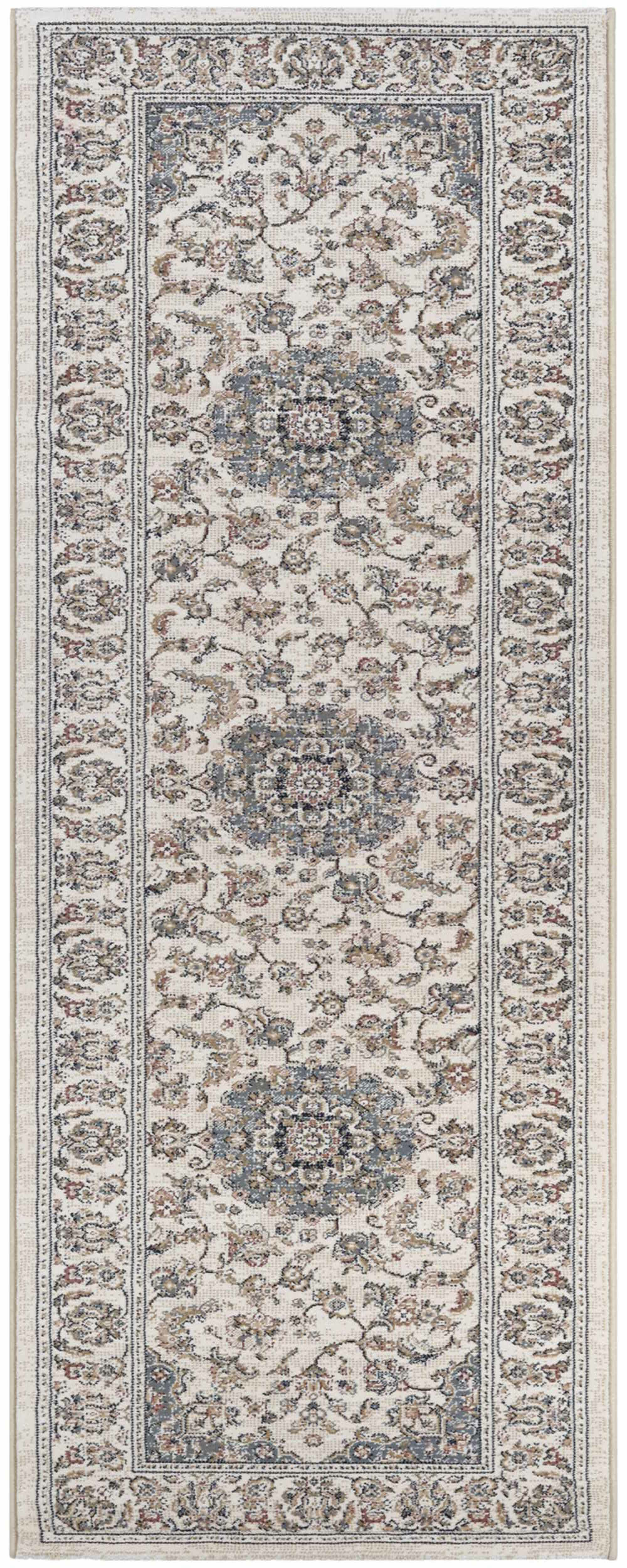 Grimaldo Medallion Antique Cream Area Rug Rug Size: Runner 2'3